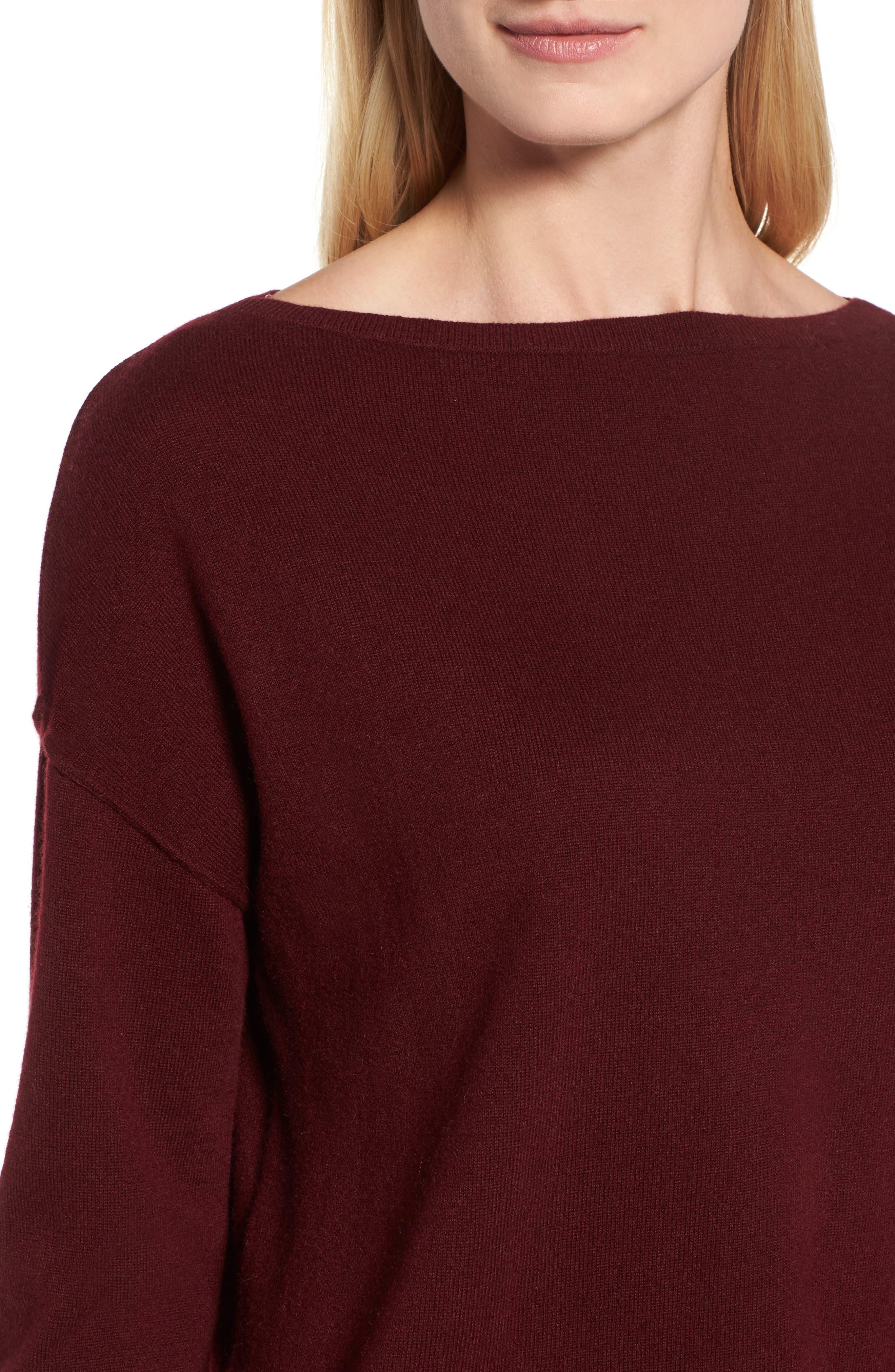 Alternate Image 4  - Nordstrom Signature Bateau Neck Cashmere Sweater