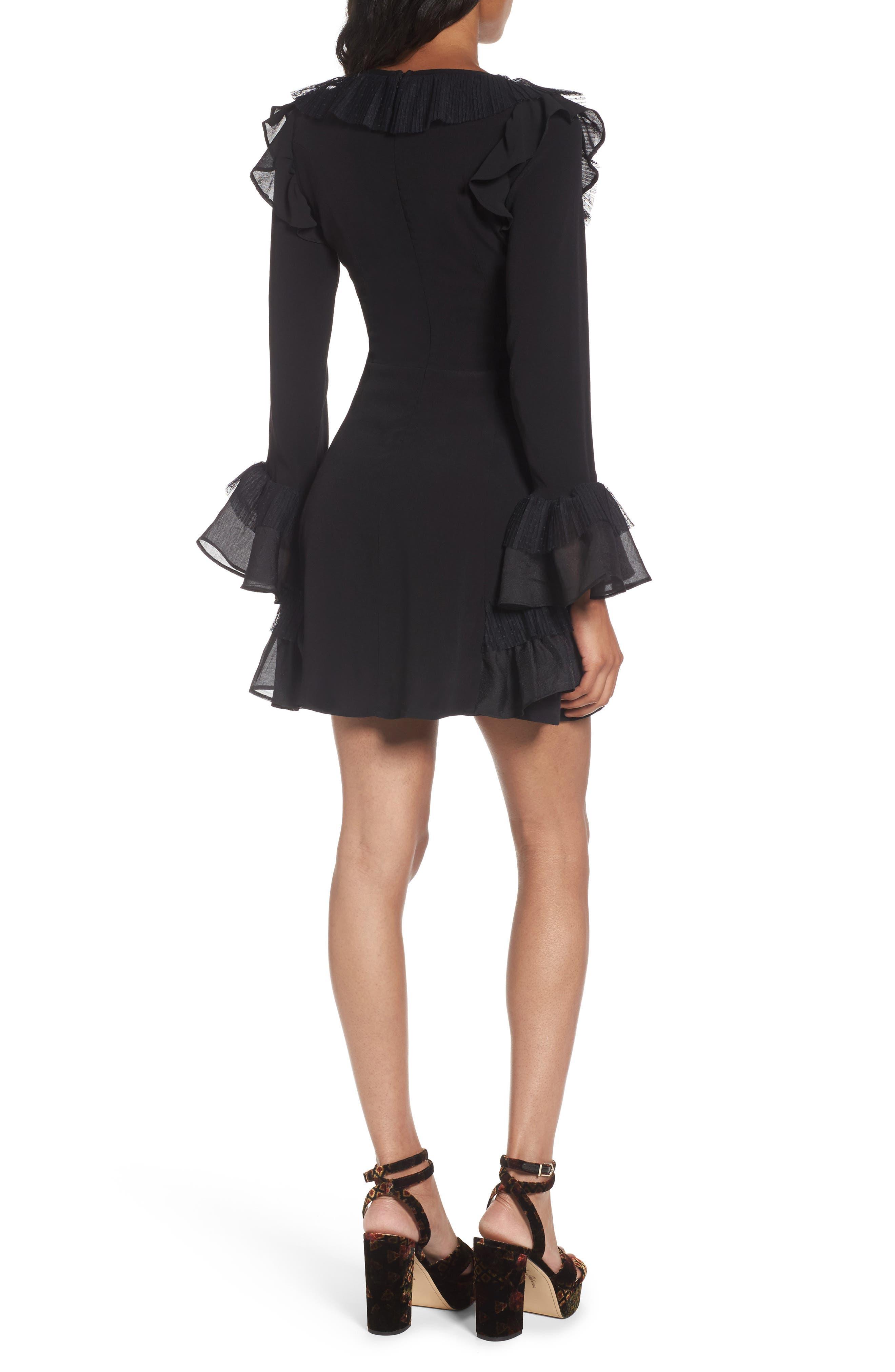 Evie Minidress,                             Alternate thumbnail 3, color,                             Black