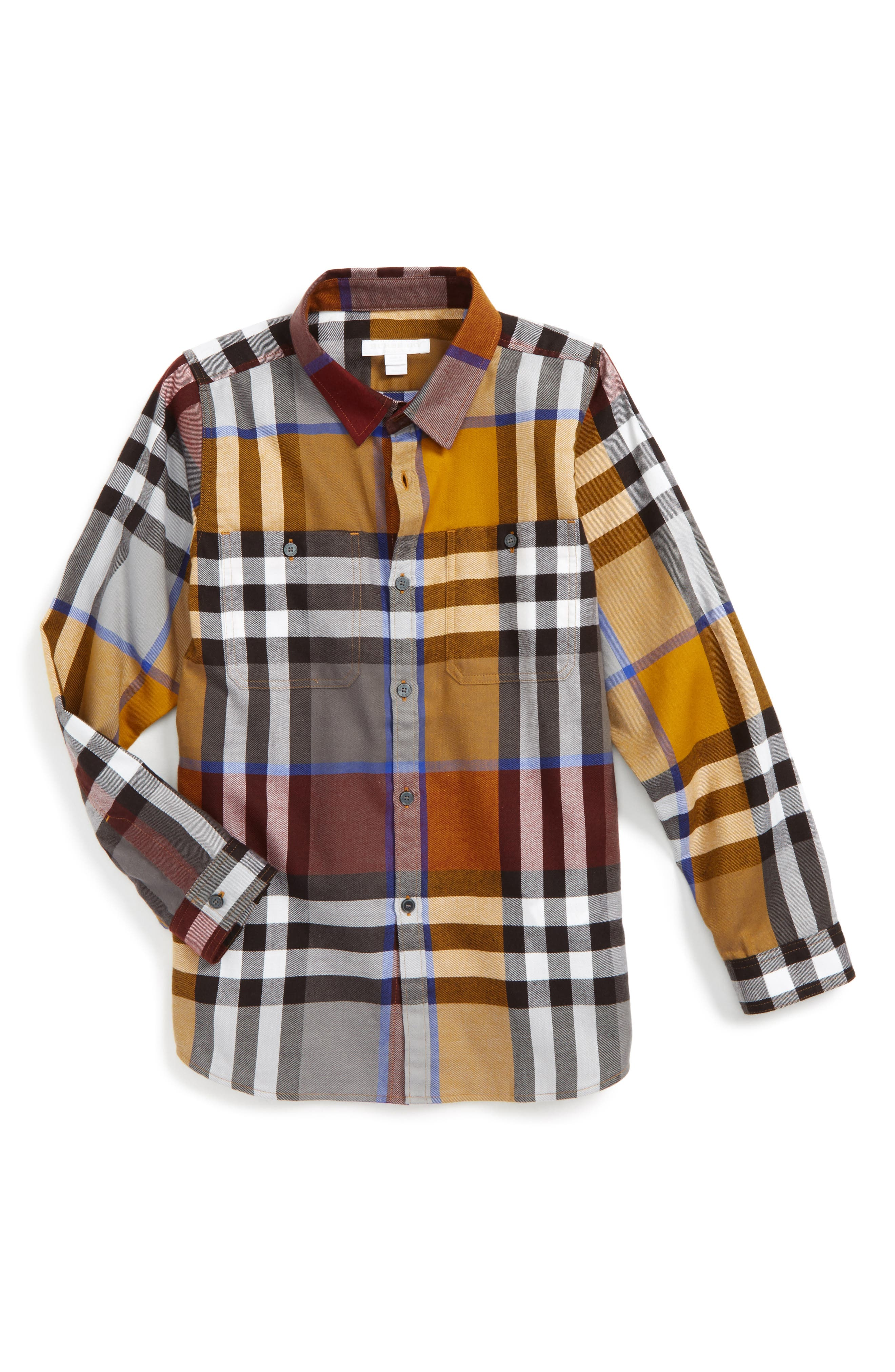 Alternate Image 1 Selected - Burberry 'Mini Camber' Check Long Sleeve Shirt (Little Boys & Big Boys)