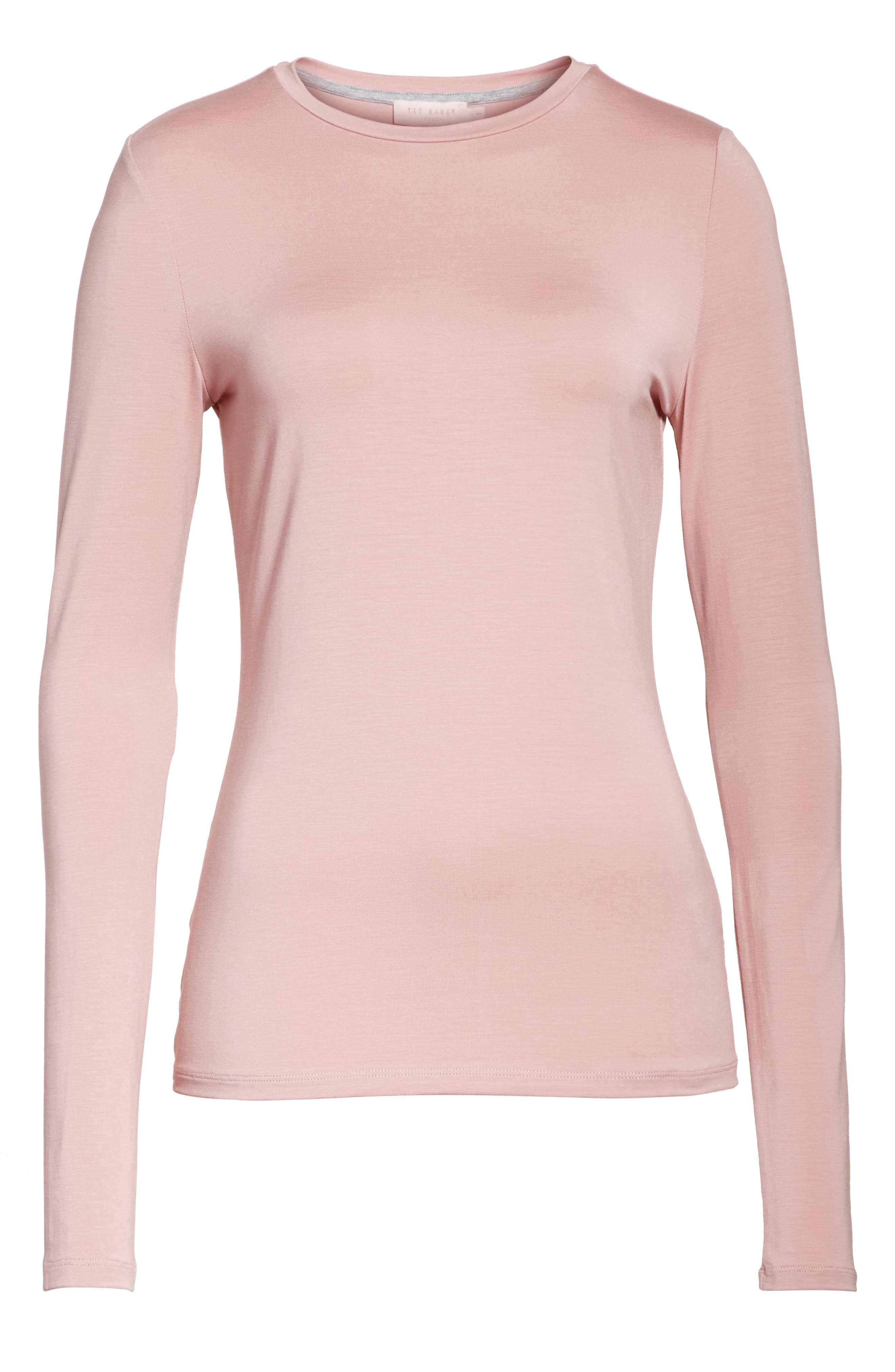 Alternate Image 6  - Ted Baker London Rojo Skinny Long Sleeve Top