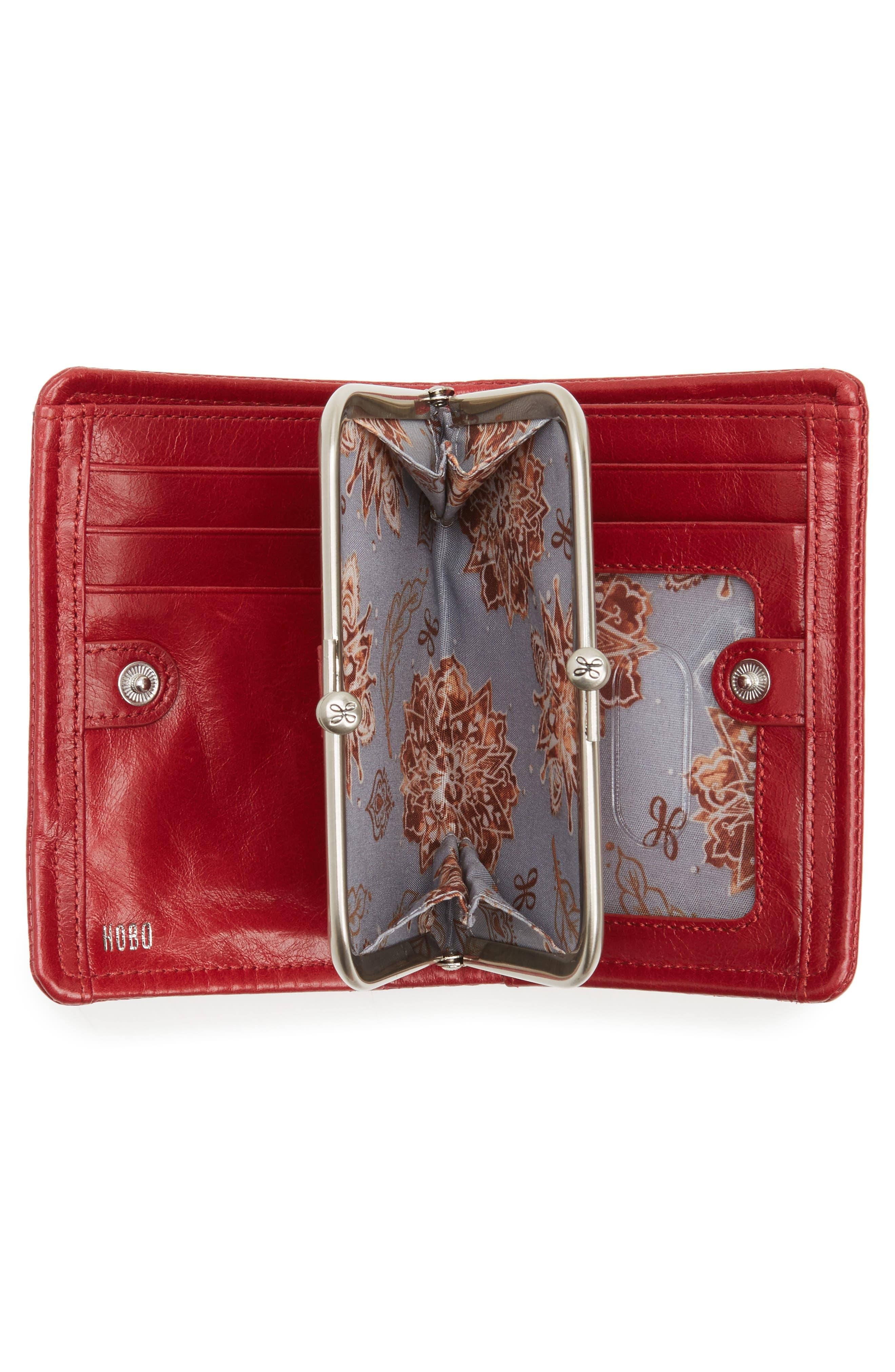 Delta Calfskin Leather Wallet,                             Alternate thumbnail 2, color,                             Cardinal