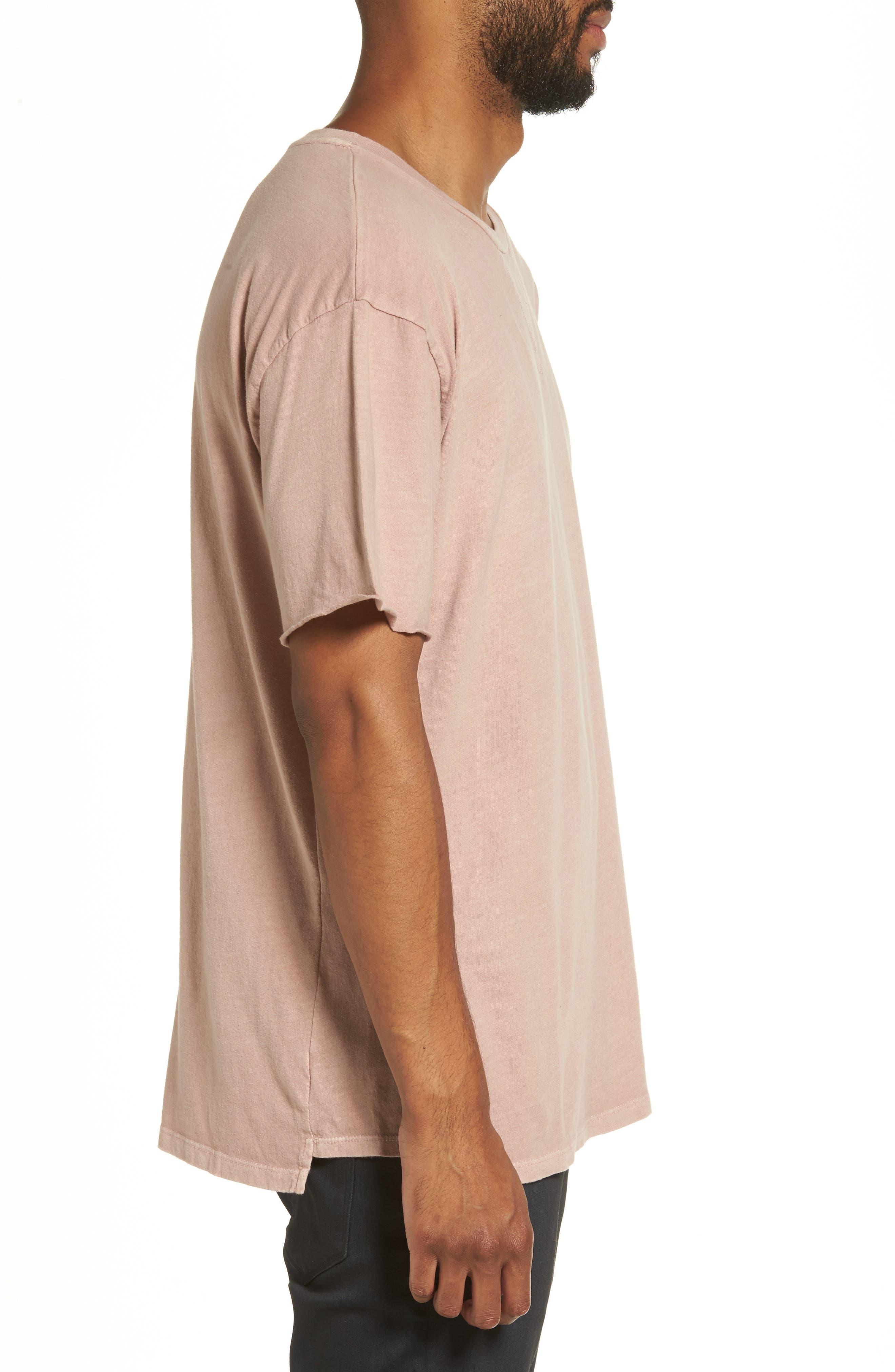 Mineral Wash T-Shirt,                             Alternate thumbnail 3, color,                             Pink Adobe