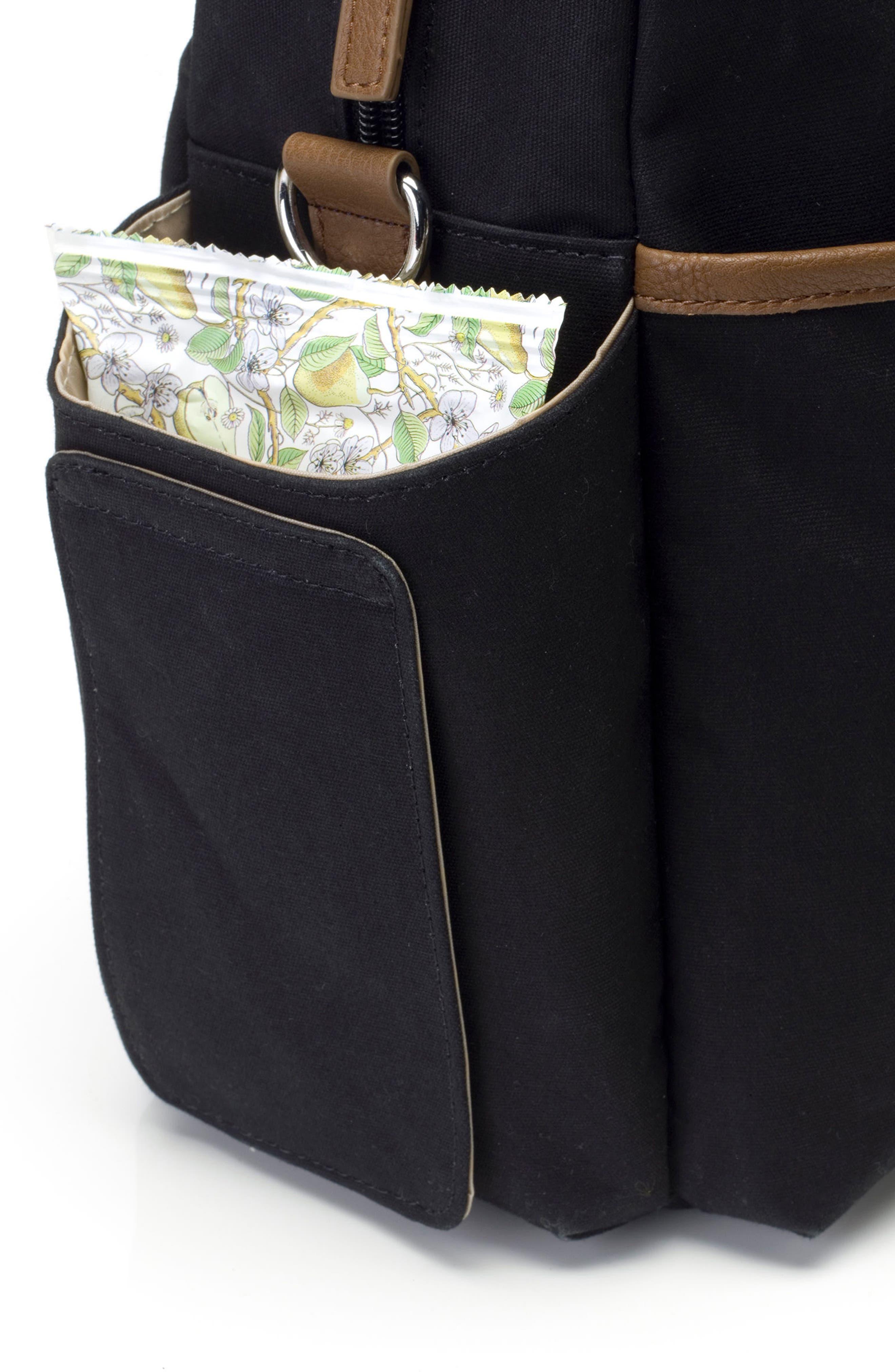 Jesse Diaper Bag,                             Alternate thumbnail 7, color,                             Black