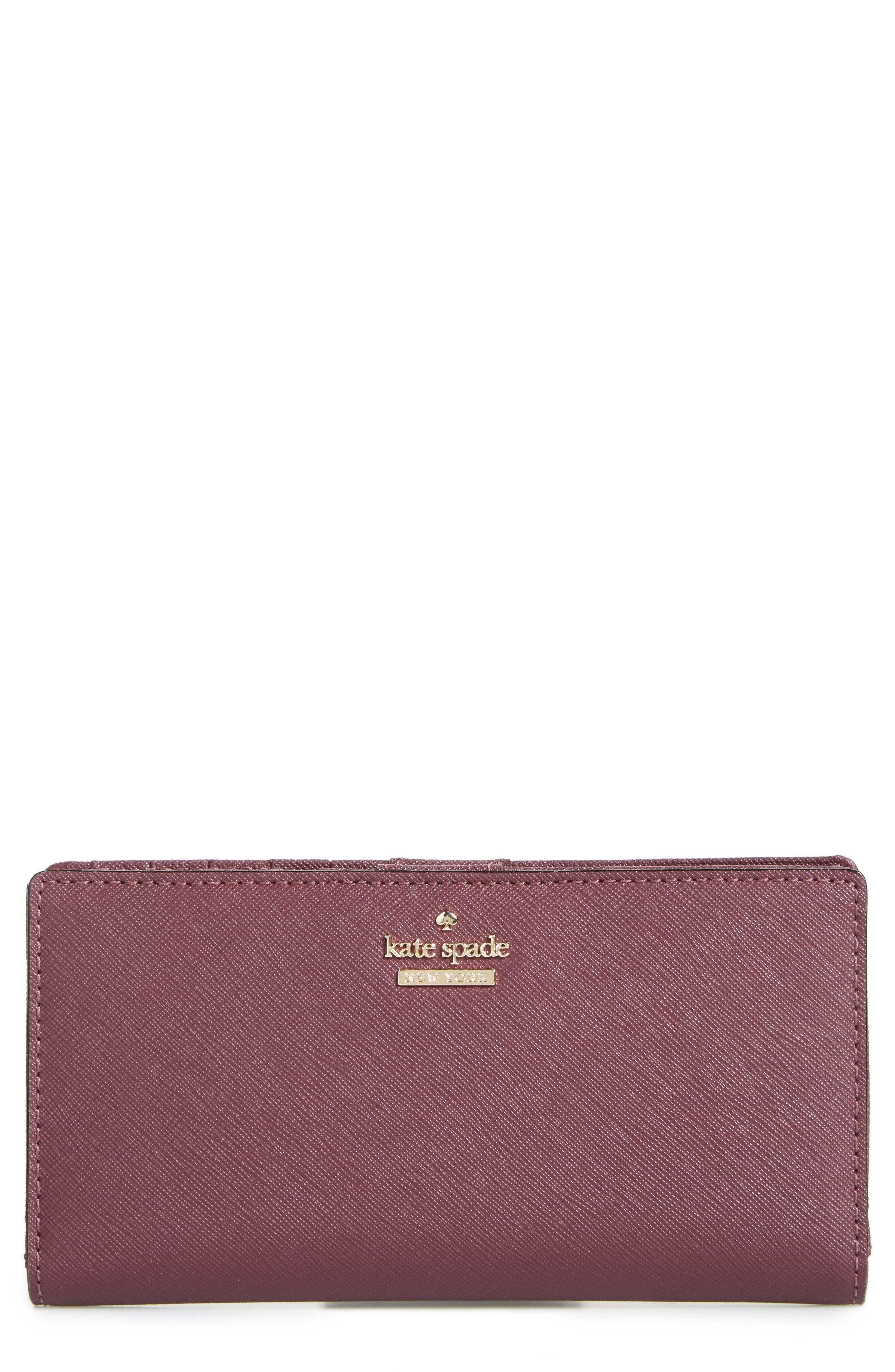 Main Image - kate spade new york 'cameron street - stacy' textured leather wallet