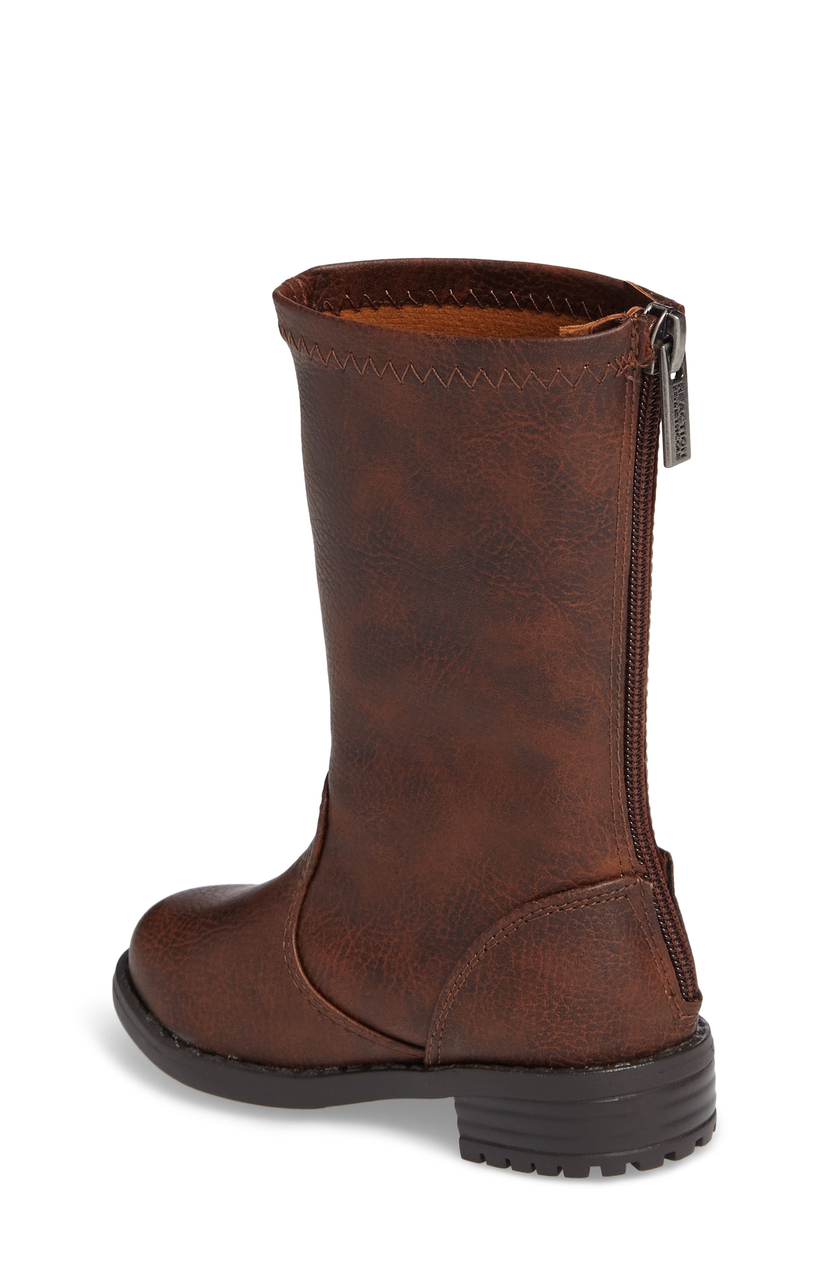 Autumn Stretch Boot,                             Alternate thumbnail 2, color,                             Distressed Brown Faux Leather