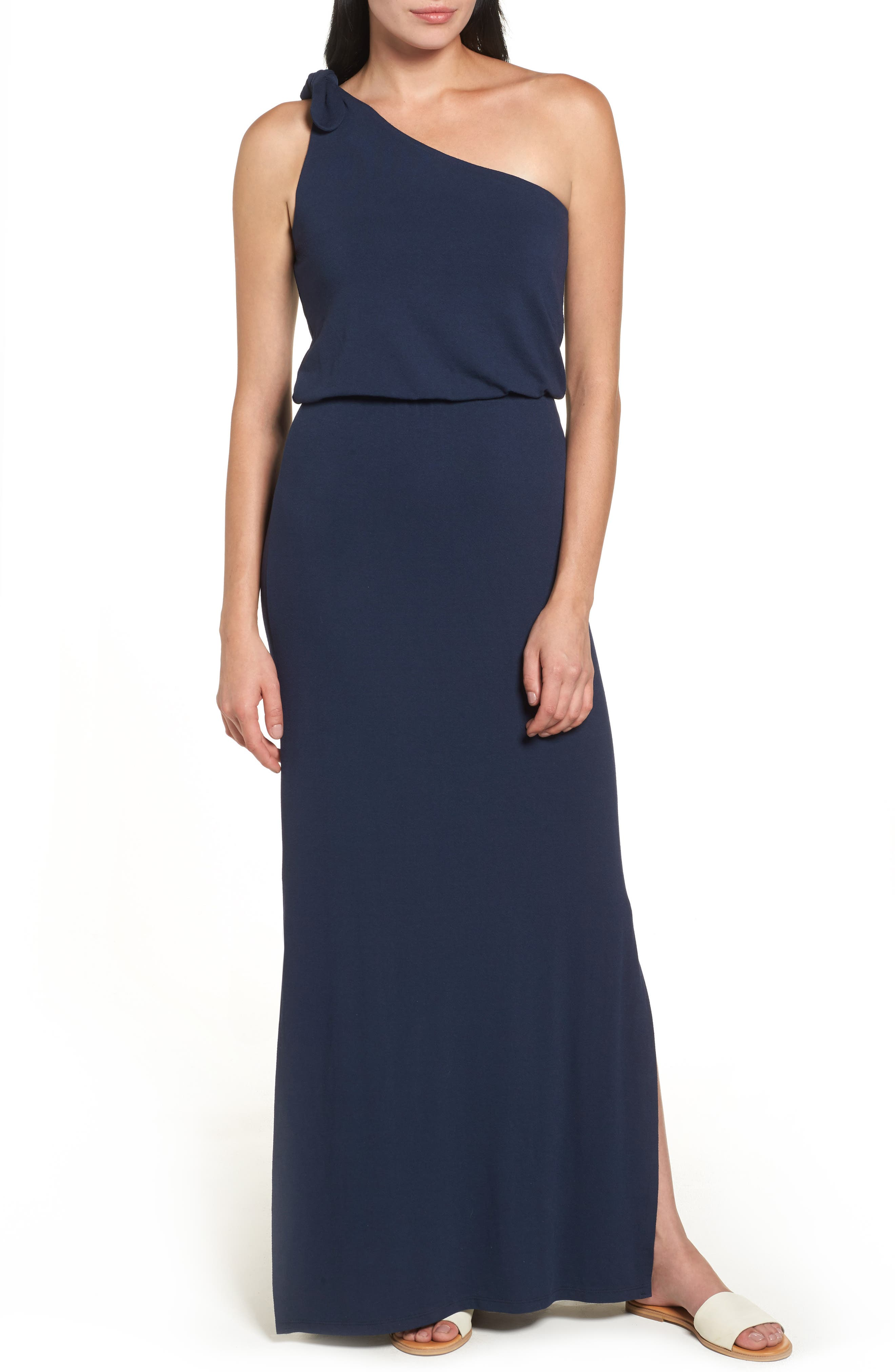 Bobeau One-Shoulder Maxi Dress
