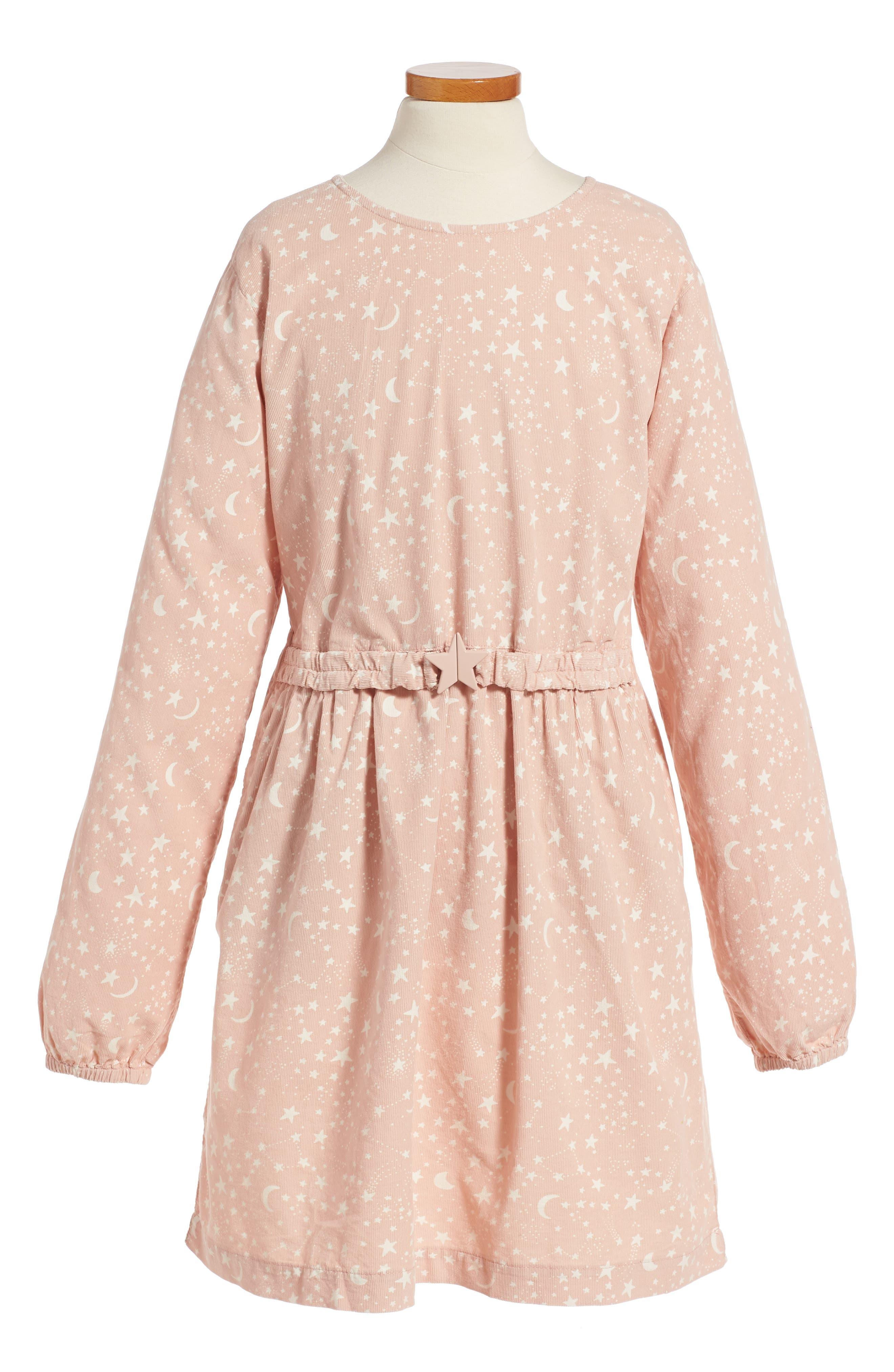 Kids Skippy Star Print Dress,                         Main,                         color, Pink