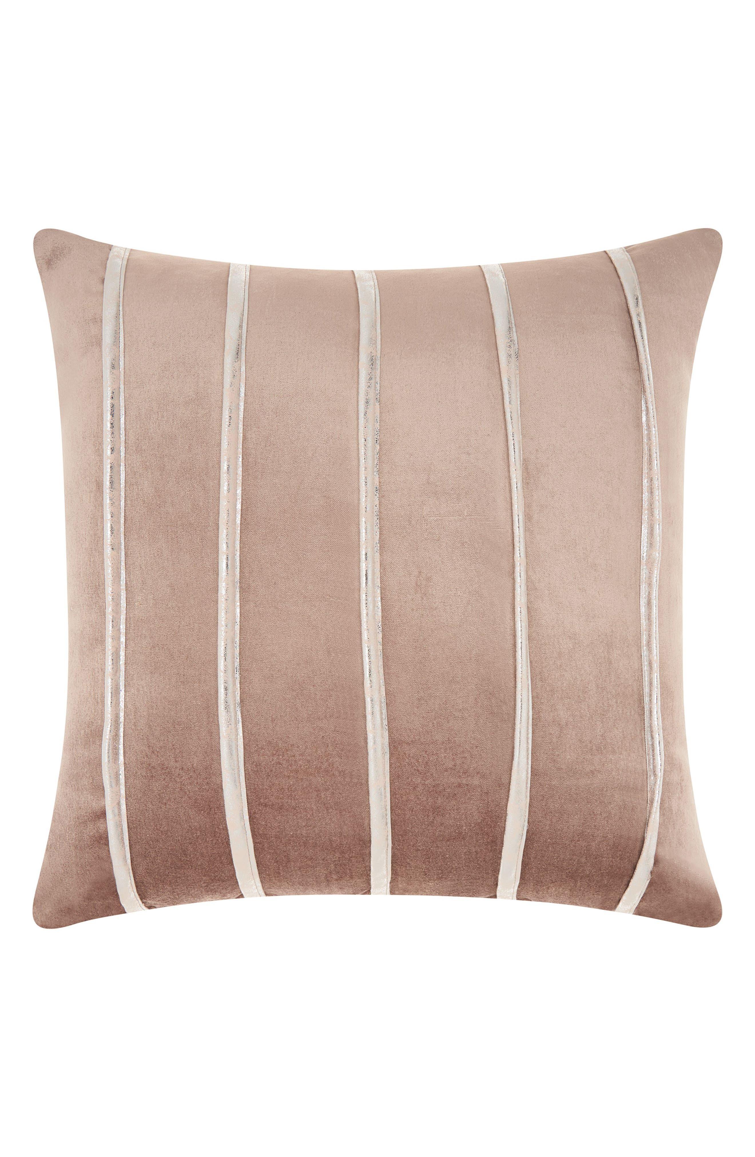 Main Image - Mina Victory Stripe Velvet Accent Pillow