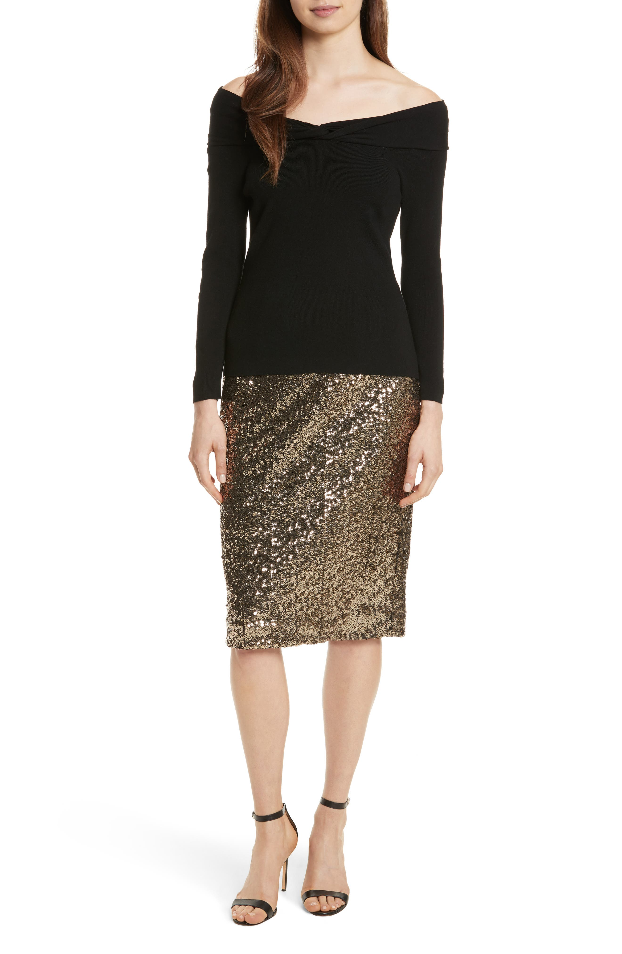 Alternate Image 7  - Milly Classic Sequin Pencil Skirt