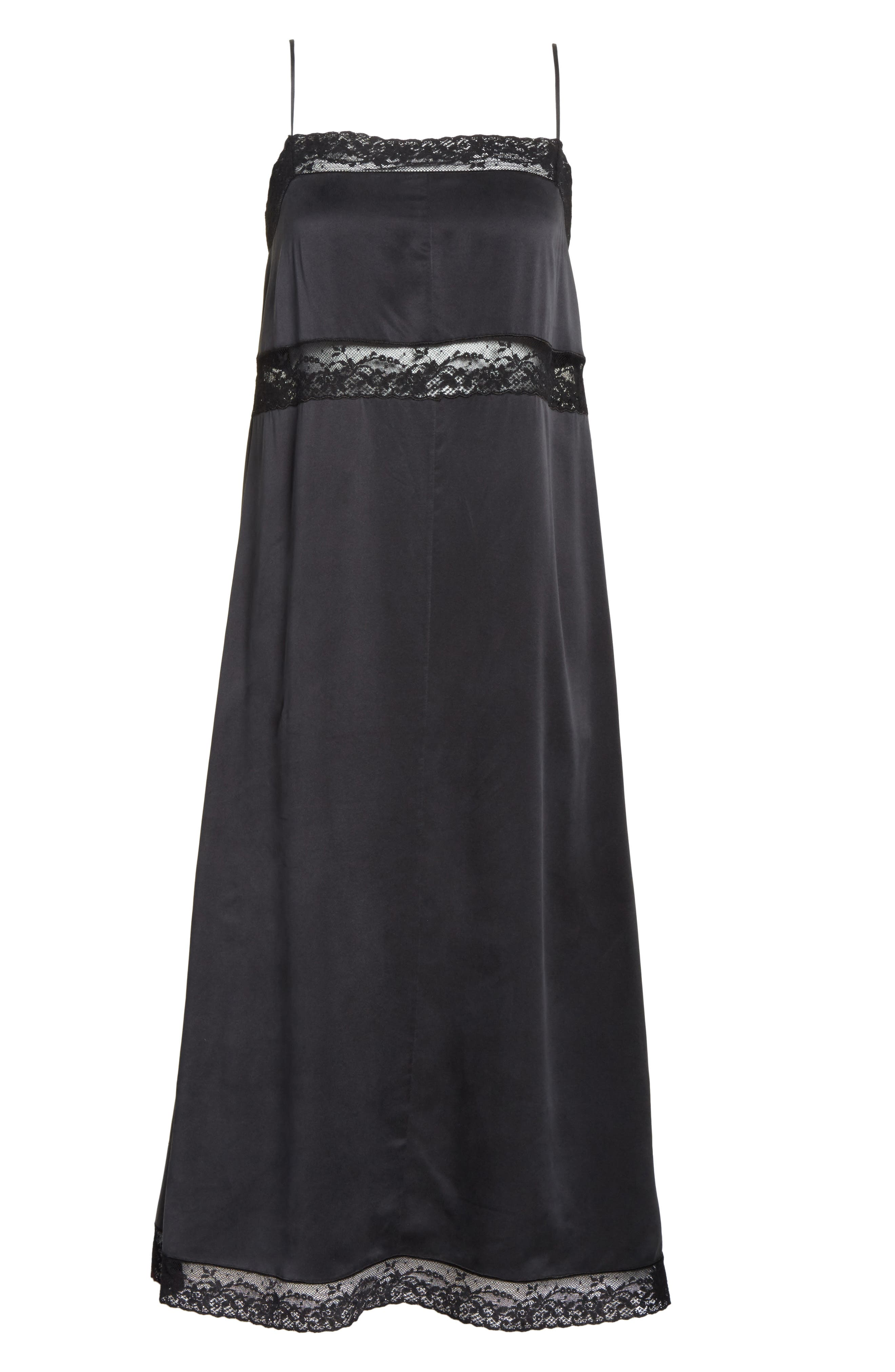 Alternate Image 6  - Robert Rodriguez Lace Trim Silk Slipdress