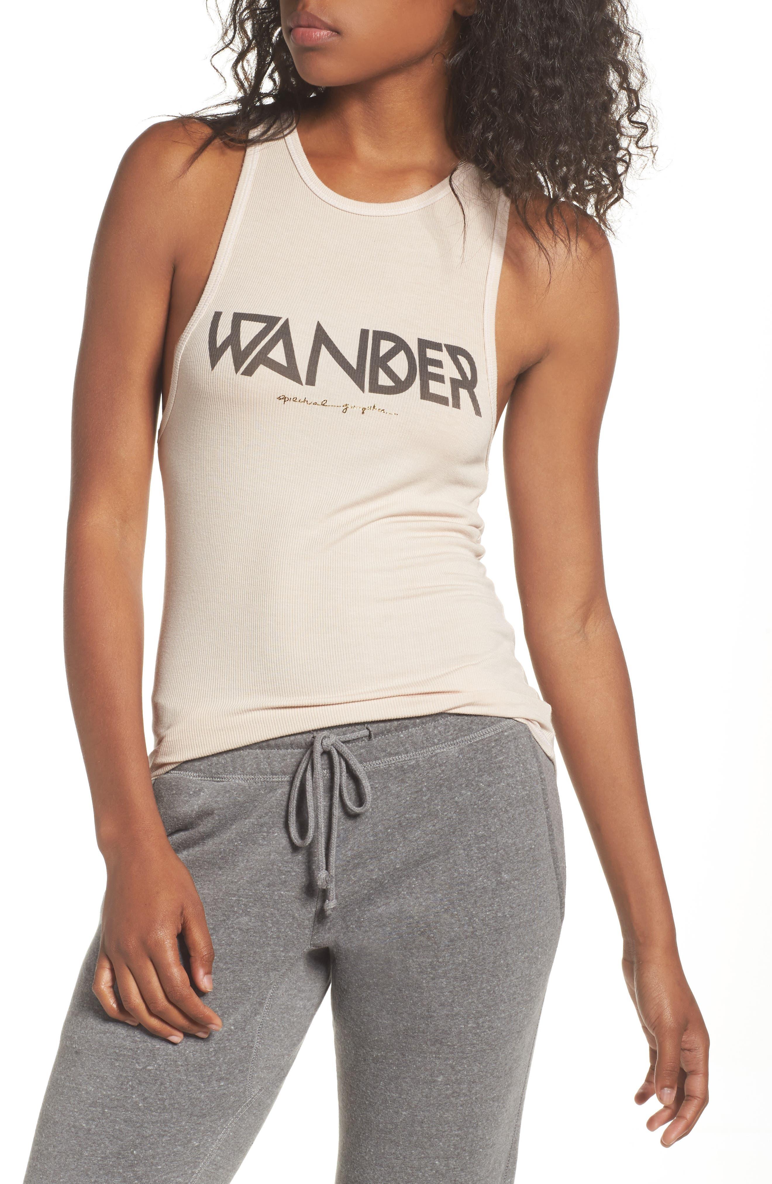 Wander Tribe Tank,                         Main,                         color, Sand