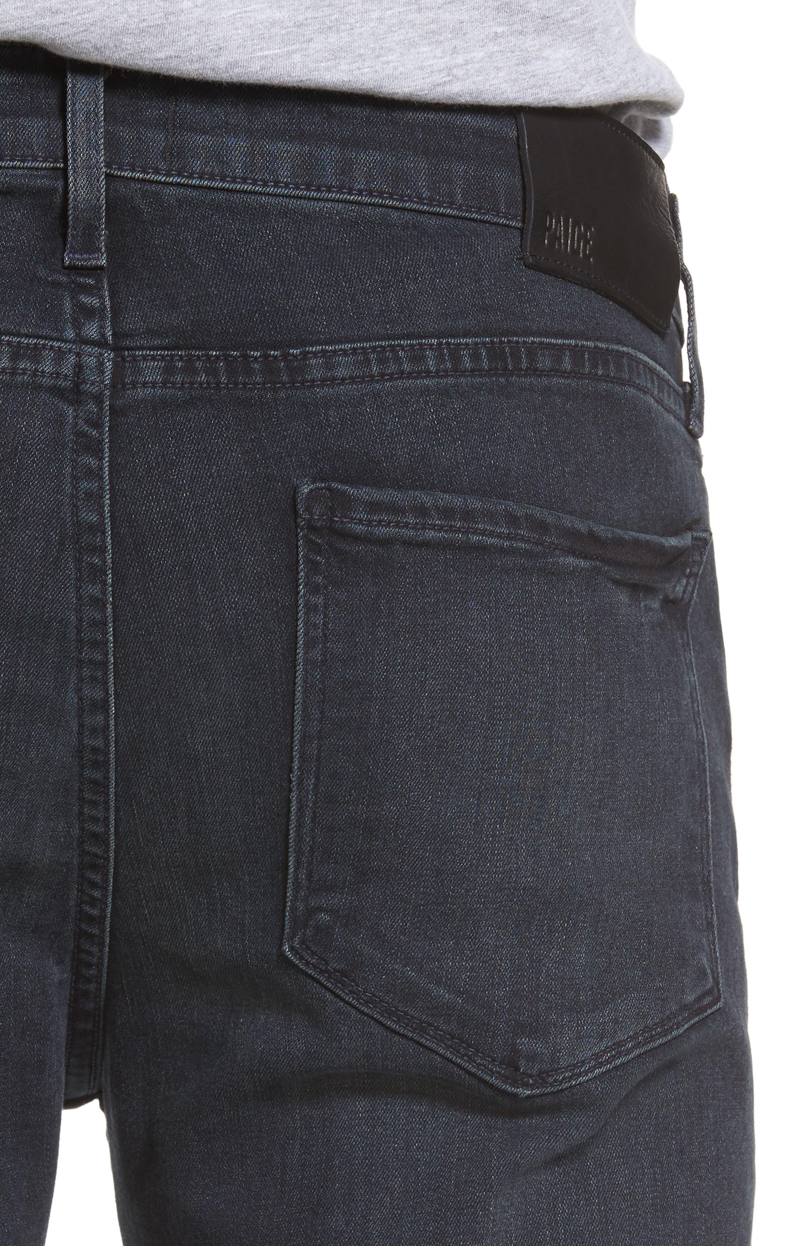 Transcend - Croft Skinny Fit Jeans,                             Alternate thumbnail 4, color,                             Beckett