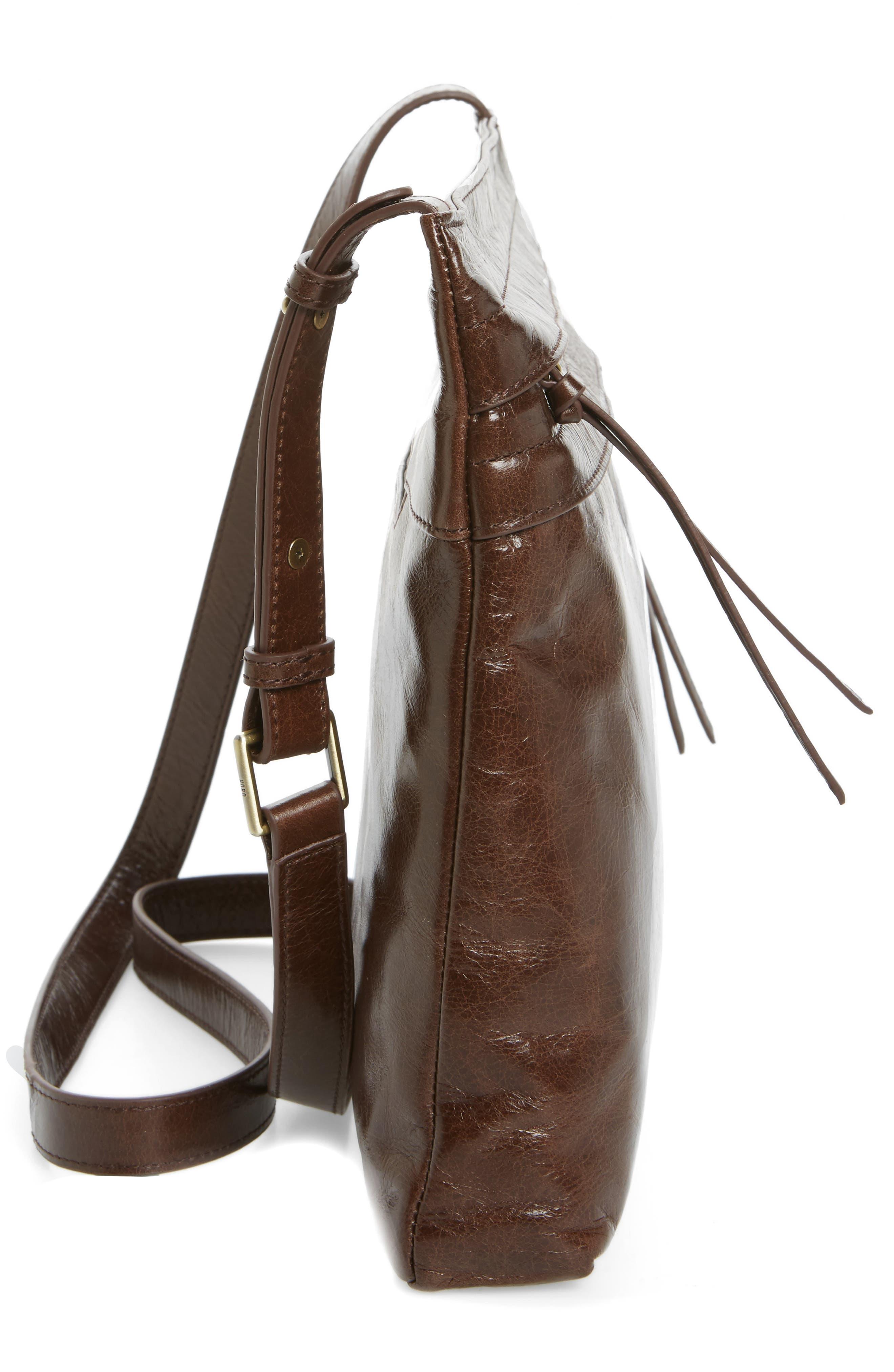 Larkin Leather Messenger Bag,                             Alternate thumbnail 4, color,                             Espresso