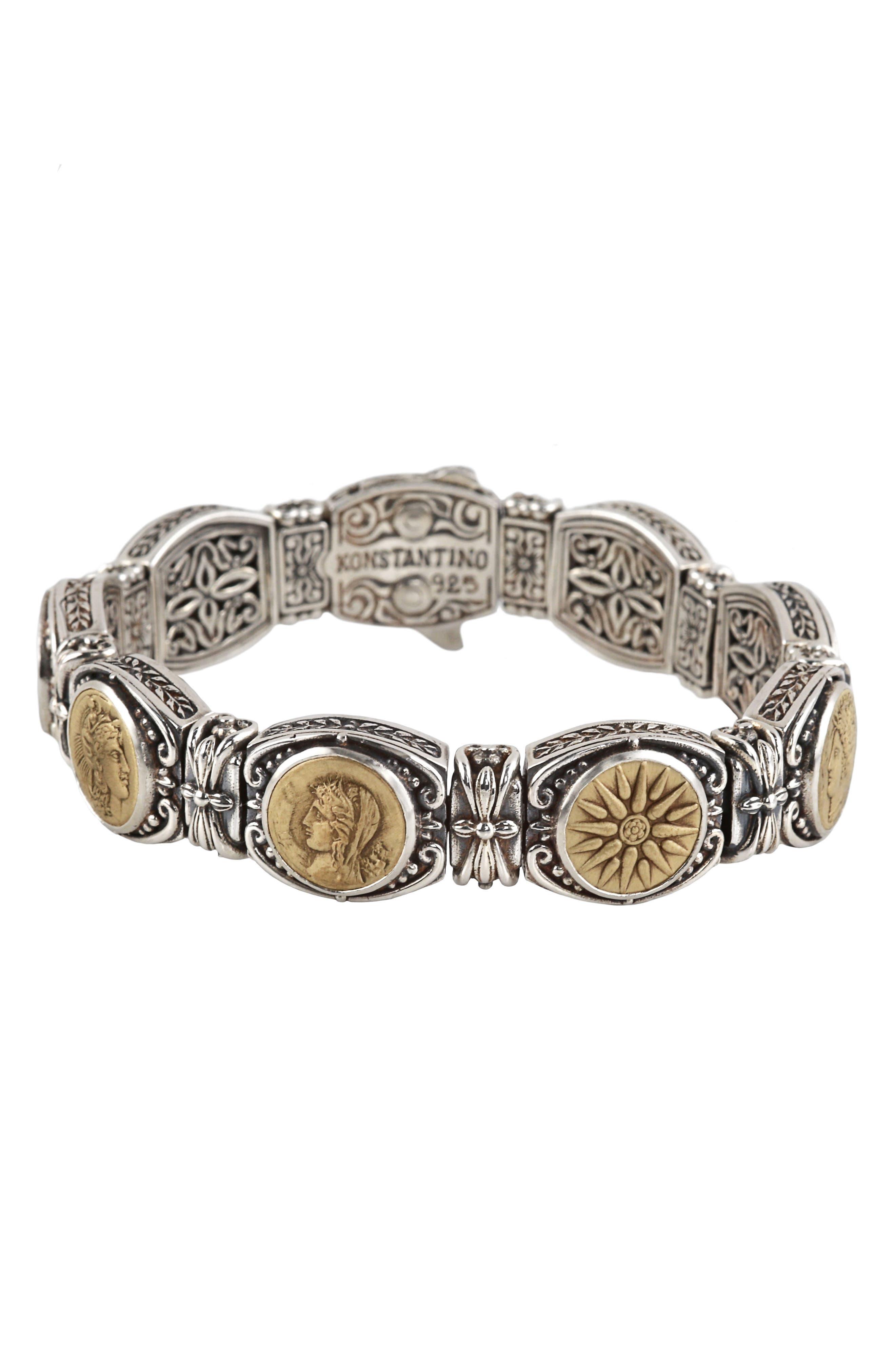 KONSTANTINO Bronze Coin Bracelet