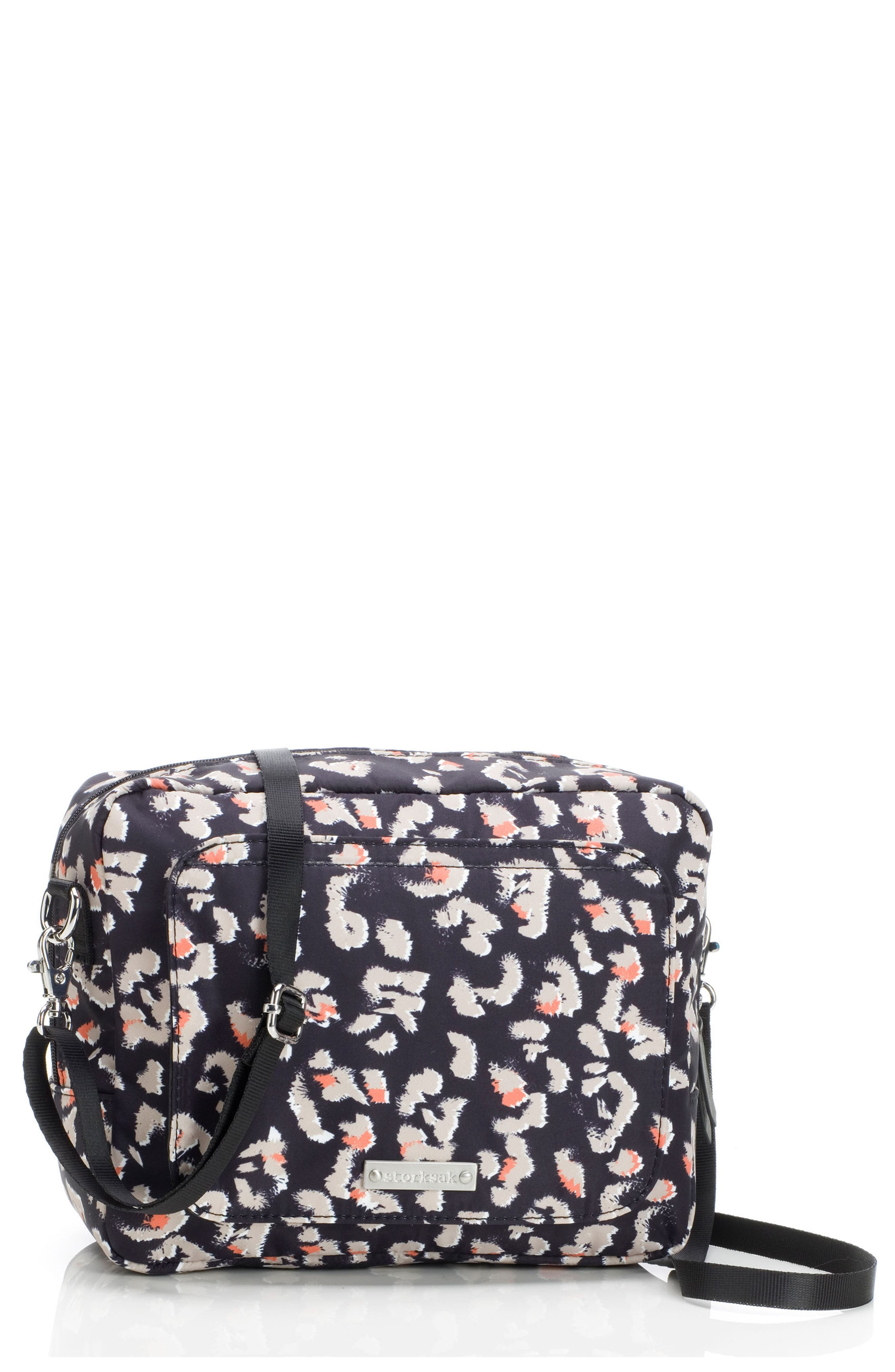Mini Fix Crossbody Diaper Bag,                             Main thumbnail 1, color,                             Leopard