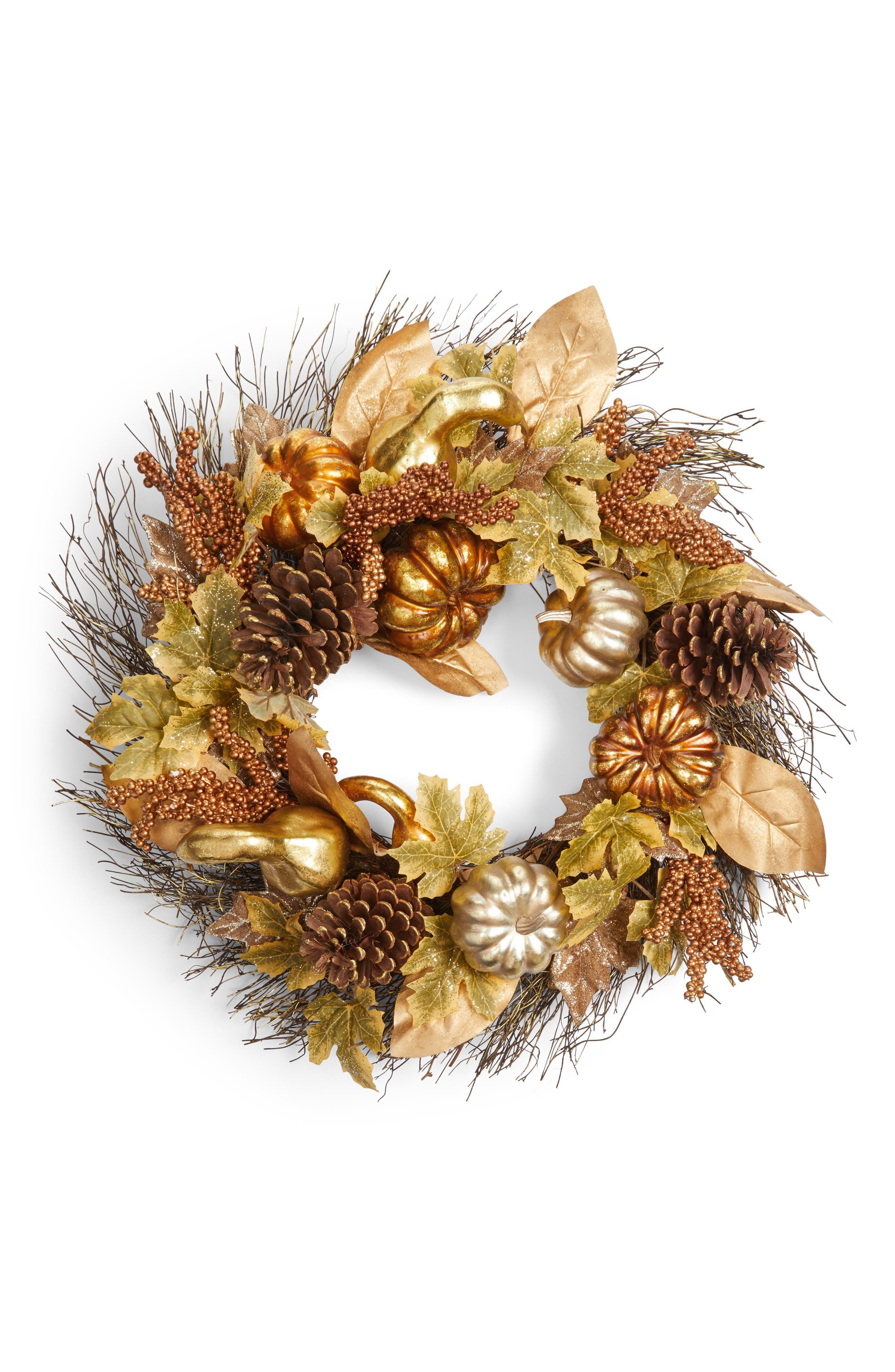 ALLSTATE Pumpkin Gourd Wreath