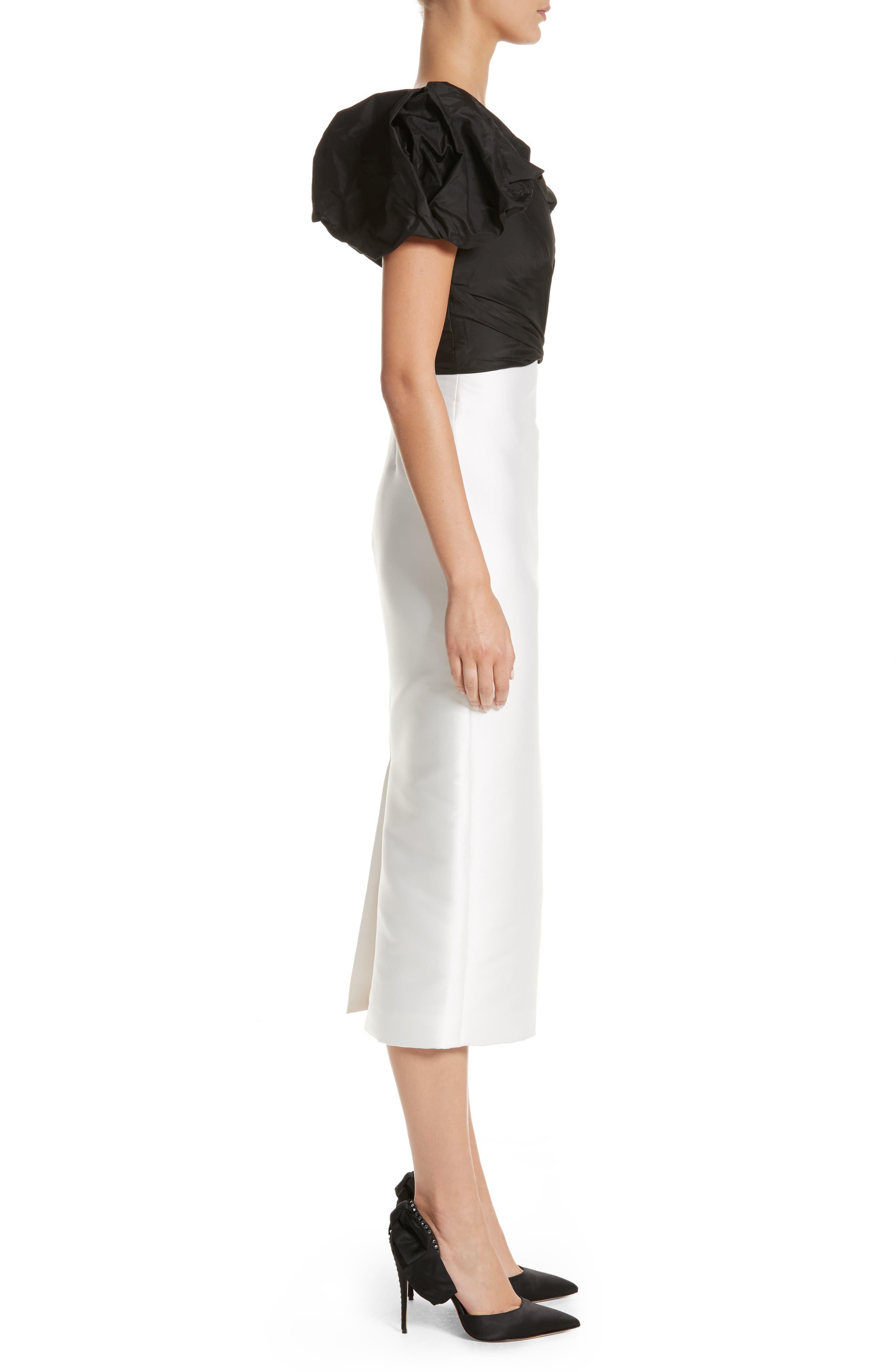 Alternate Image 3  - Monique Lhuillier Puff Sleeve Mikado Sheath Dress