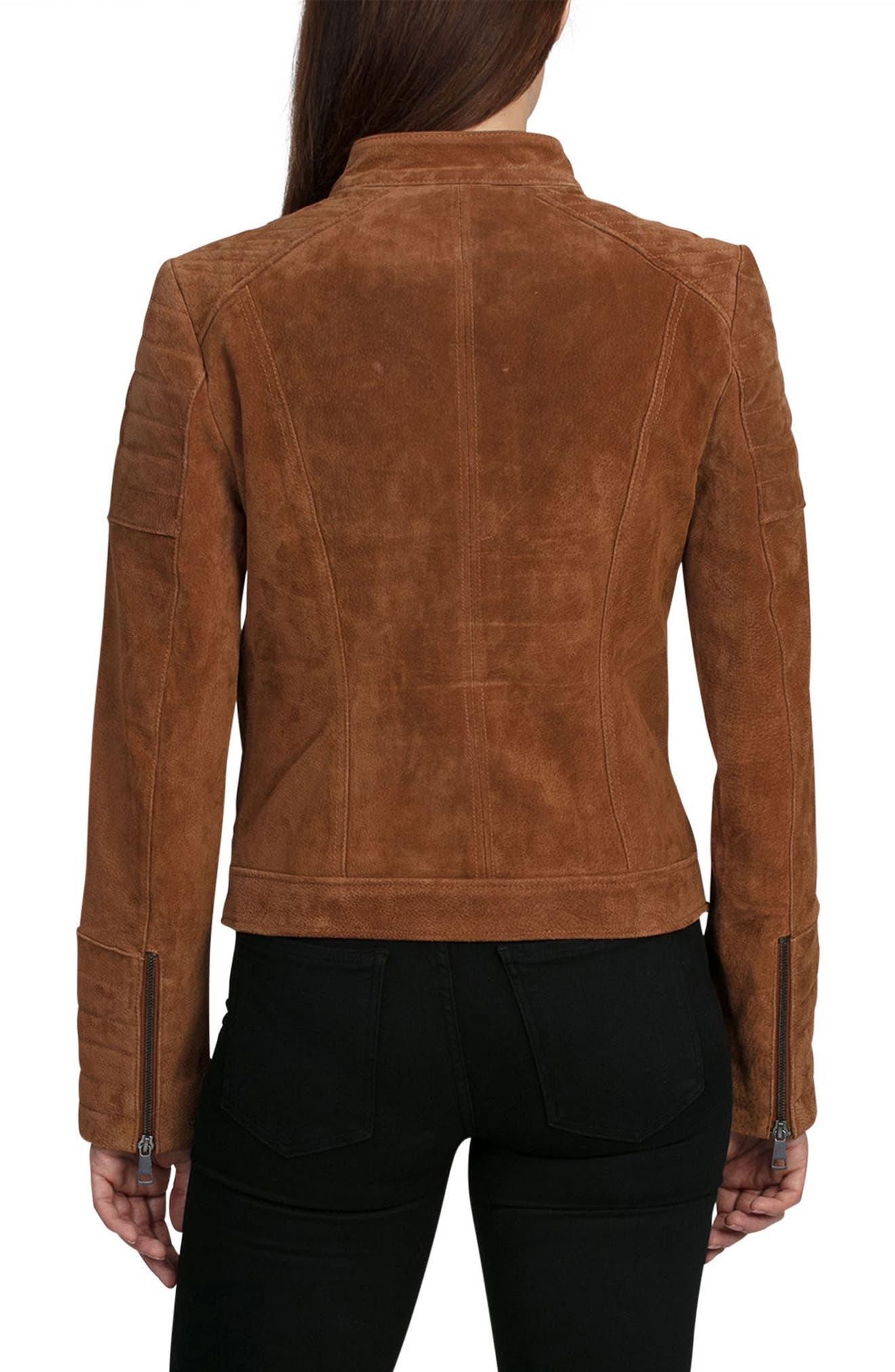Alternate Image 2  - Bagatelle Suede Moto Jacket