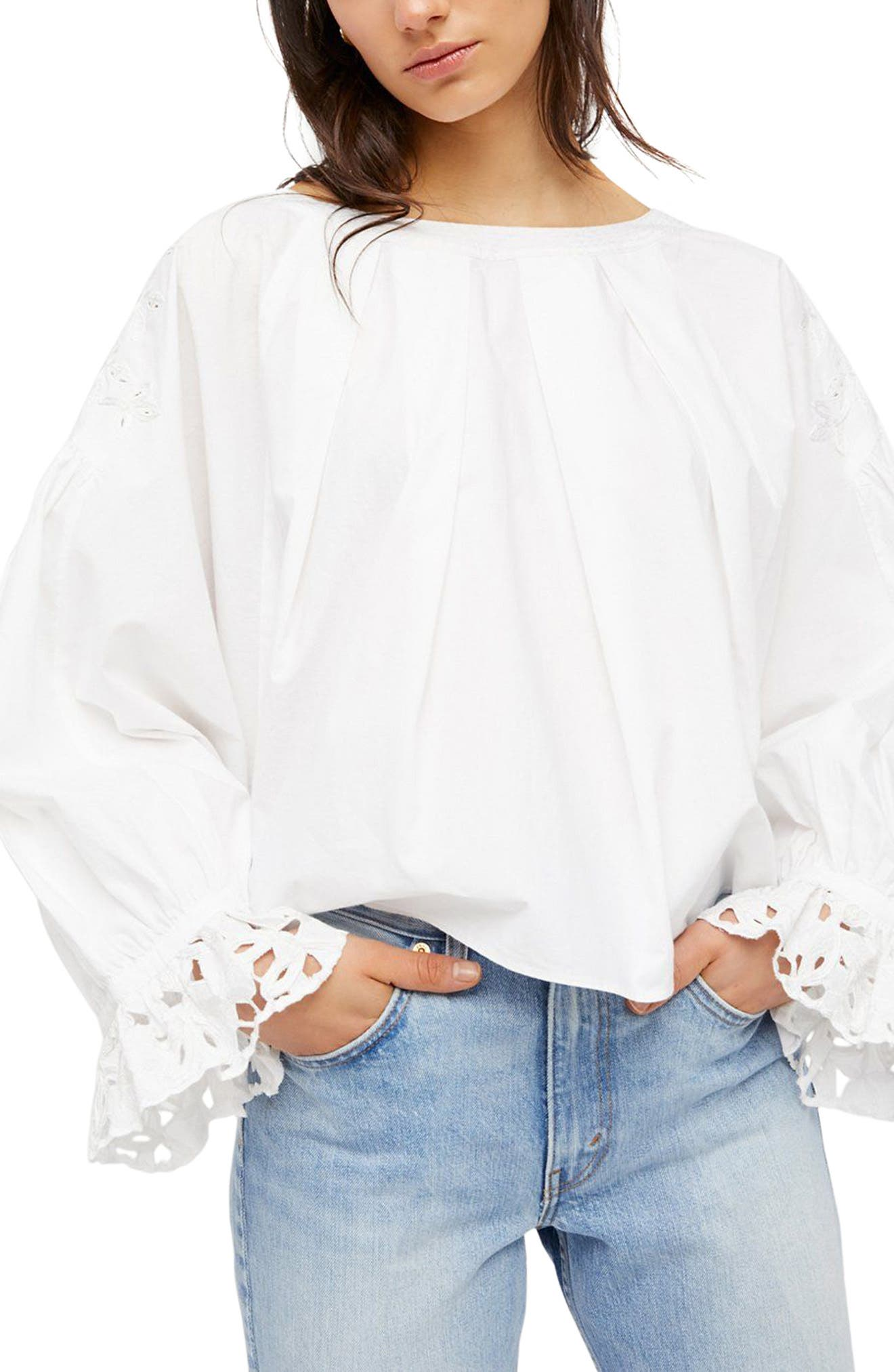 Wishing Well Blouse,                         Main,                         color, White