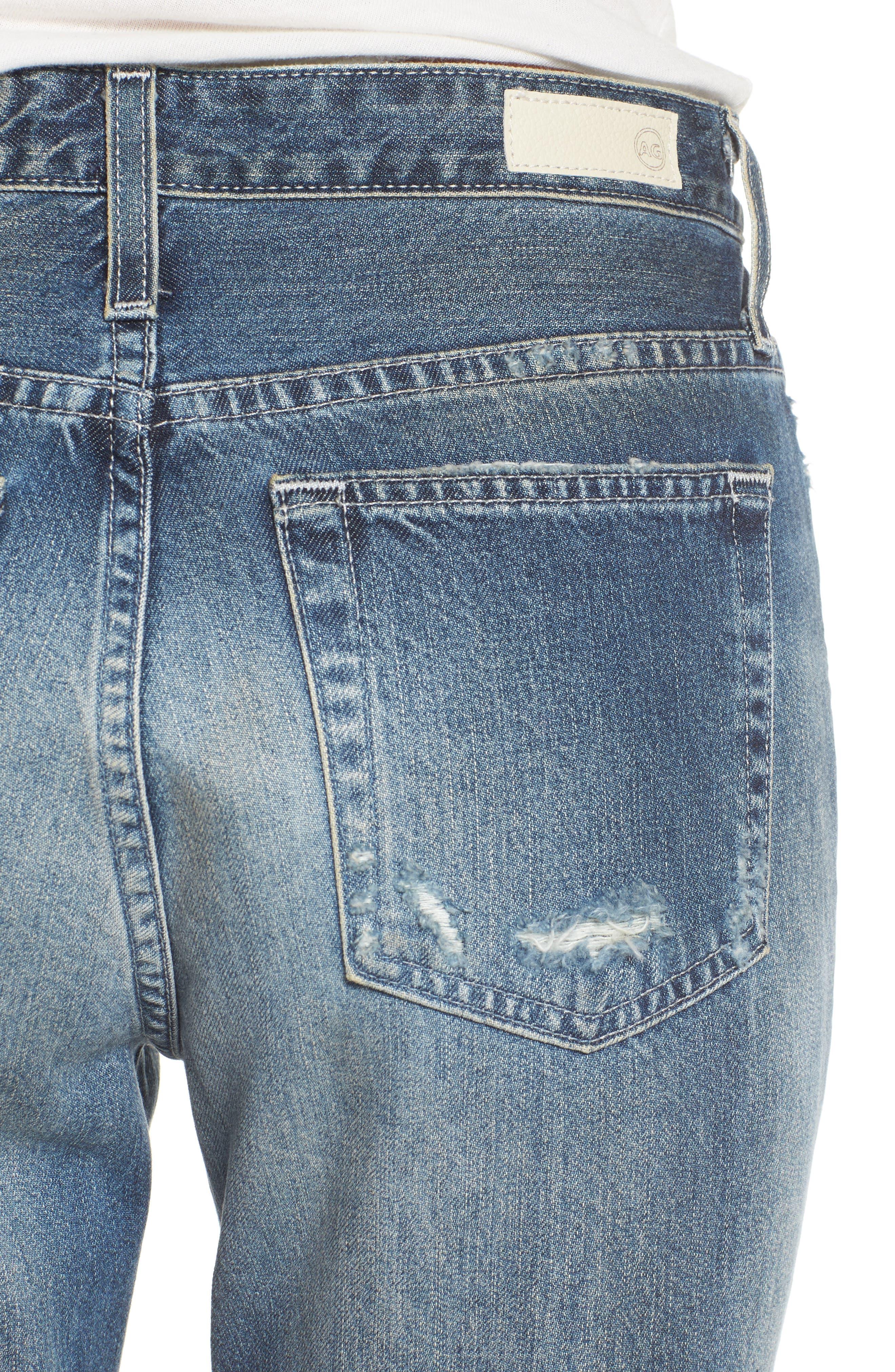Alternate Image 4  - AG Isabelle High Waist Straight Leg Crop Jeans (23 Years Wind Worn)