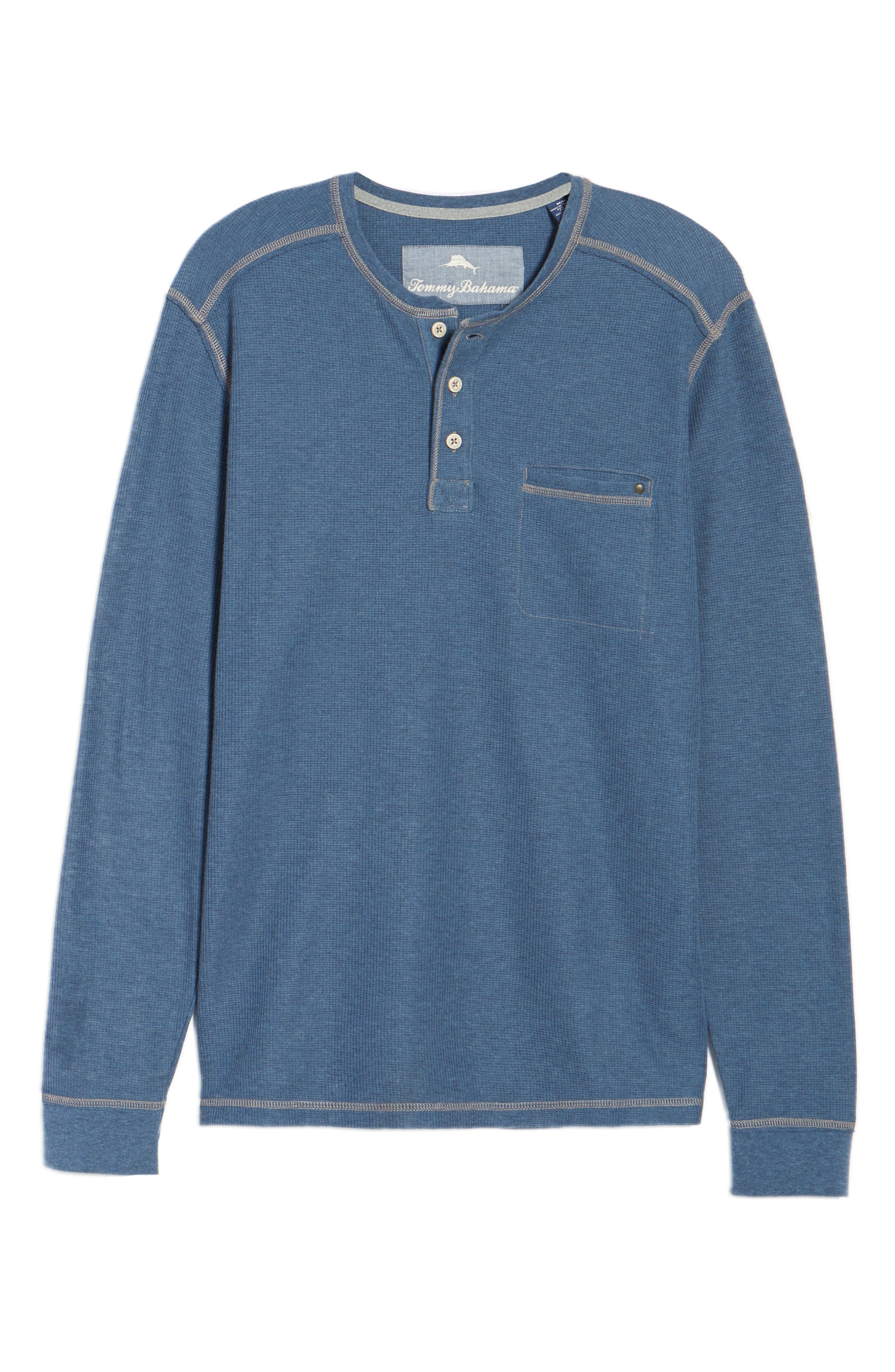 Island Thermal Henley,                             Alternate thumbnail 6, color,                             Cadet Heather