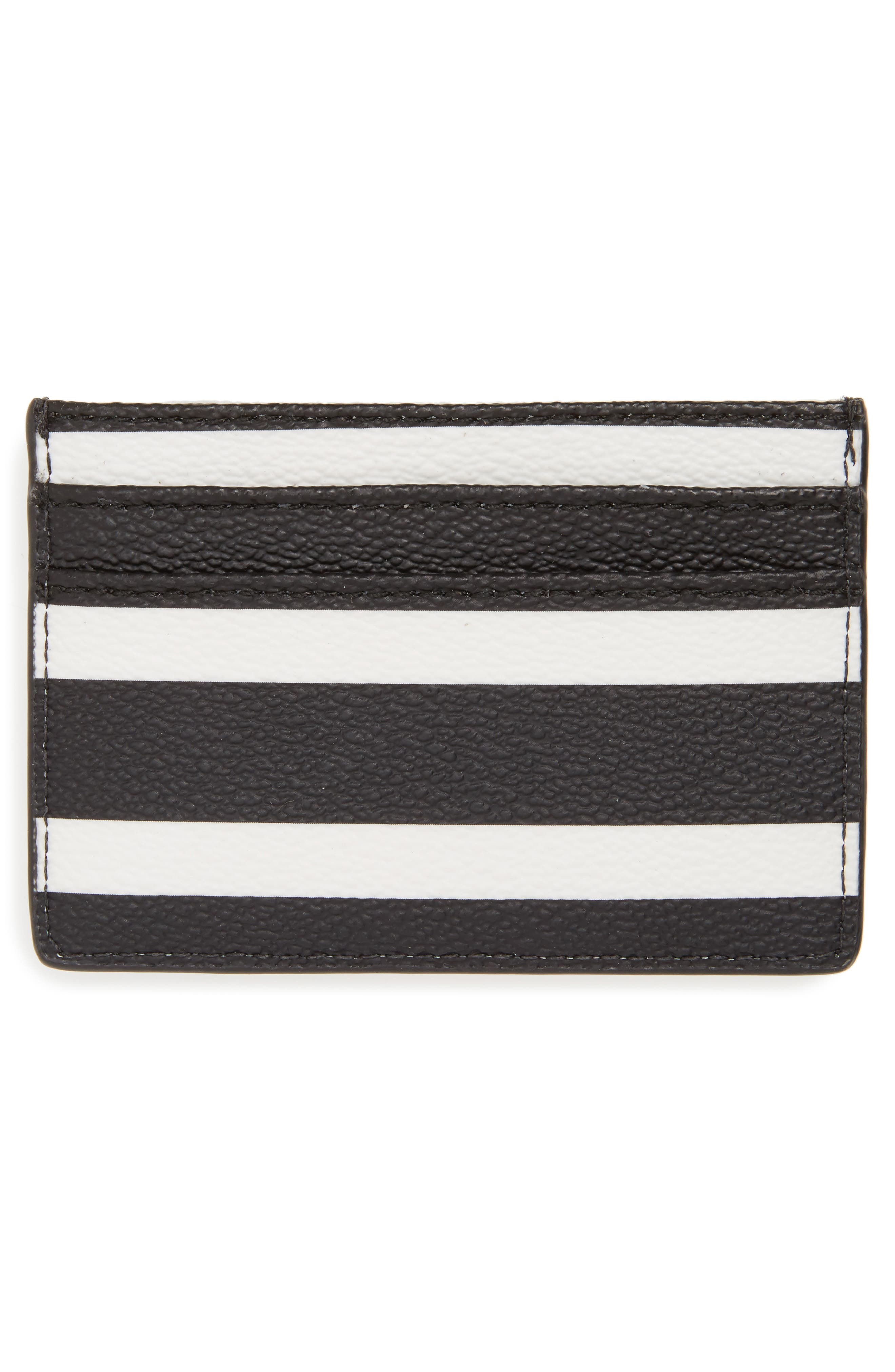 hyde lane stripe card case,                             Alternate thumbnail 2, color,                             Black/ Cream