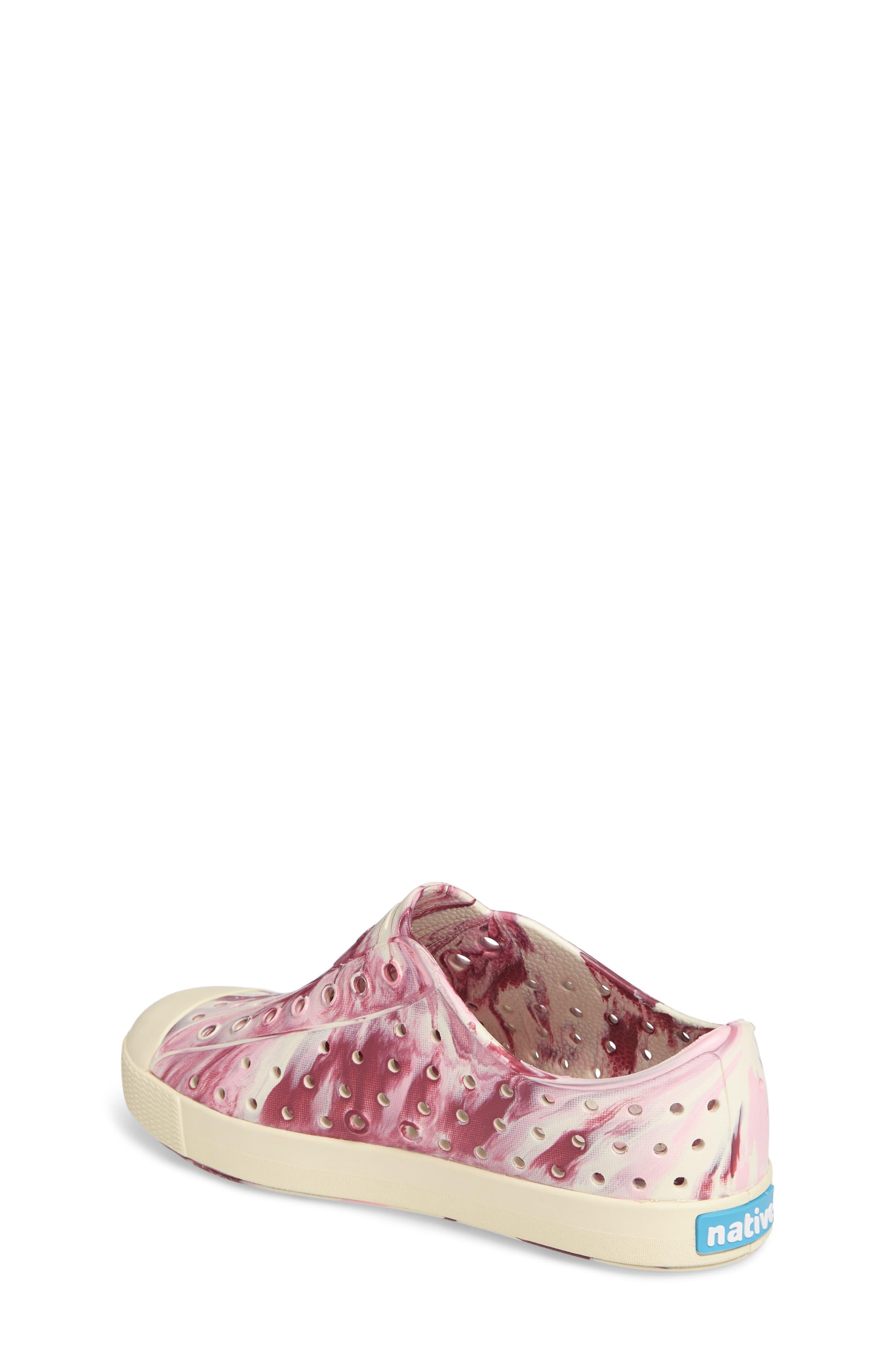Alternate Image 2  - Native Shoes Jefferson - Marbled Perforated Slip-On (Walker, Toddler & Little Kid)