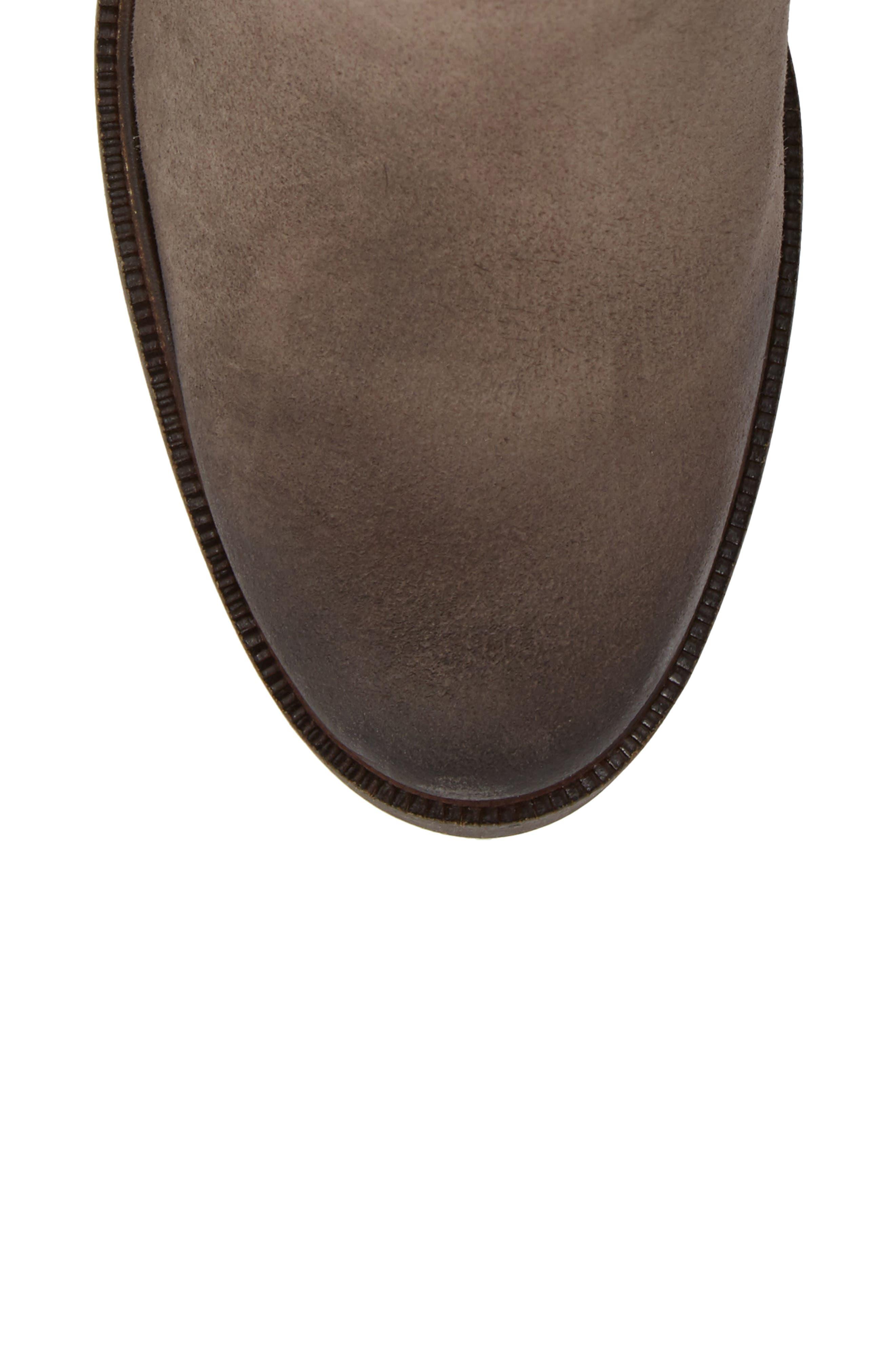 'Belfield' Waterproof Chelsea Boot,                             Alternate thumbnail 5, color,                             Grey Suede