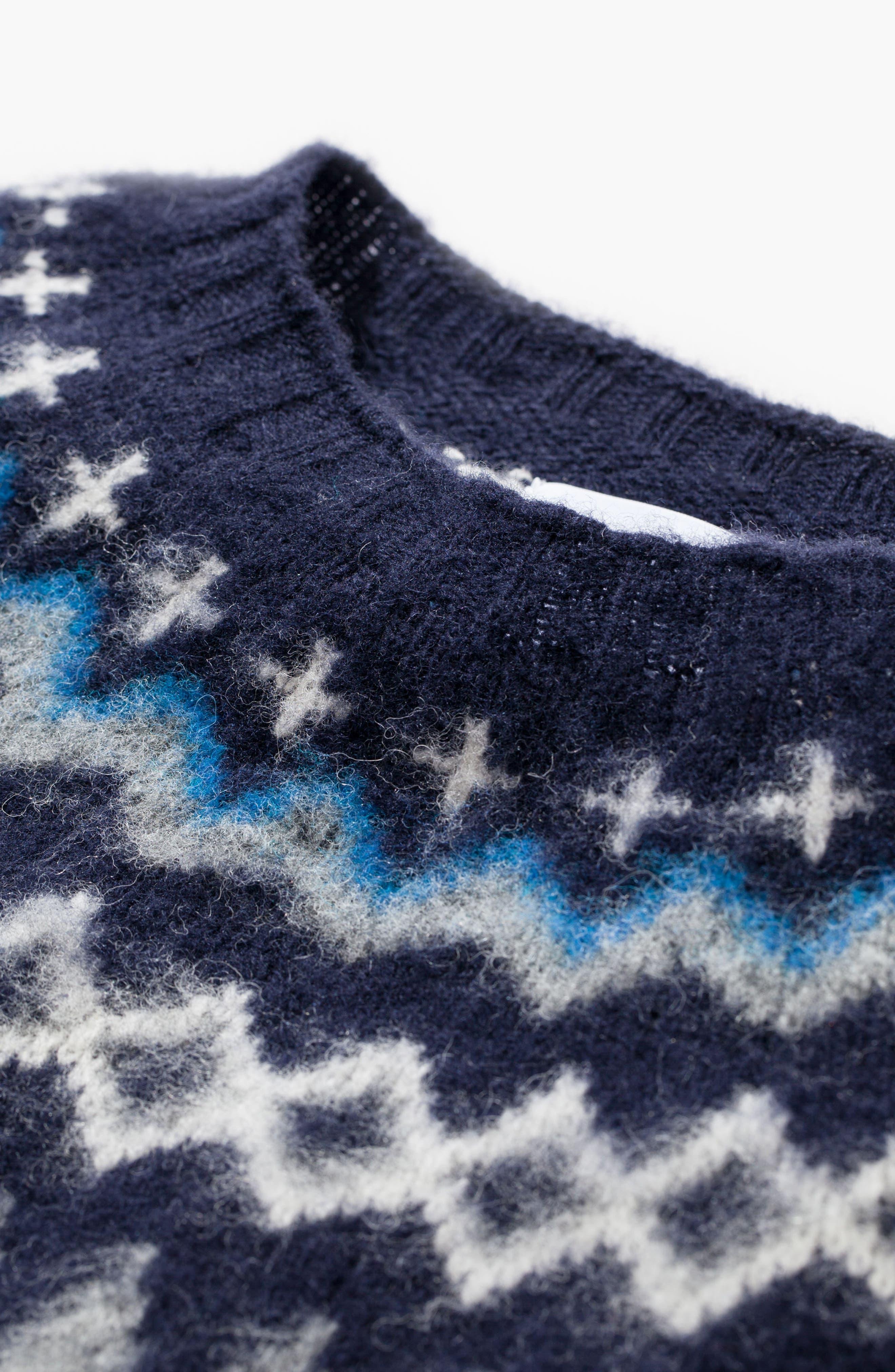 Nirnir Fair Isle Lambswool Sweater,                             Alternate thumbnail 7, color,