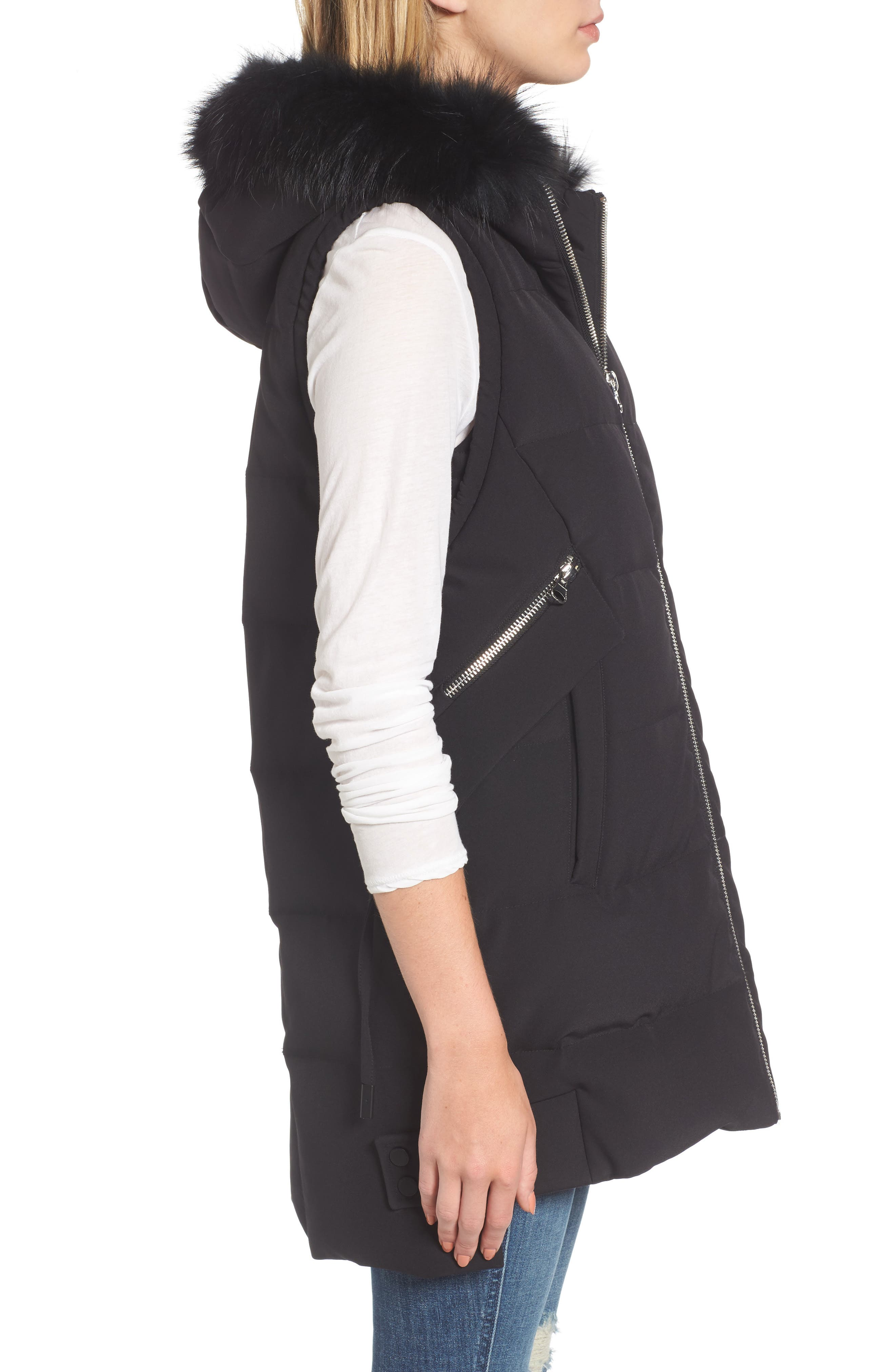 Alternate Image 3  - Derek Lam 10 Crosby Down Vest with Genuine Fox Fur