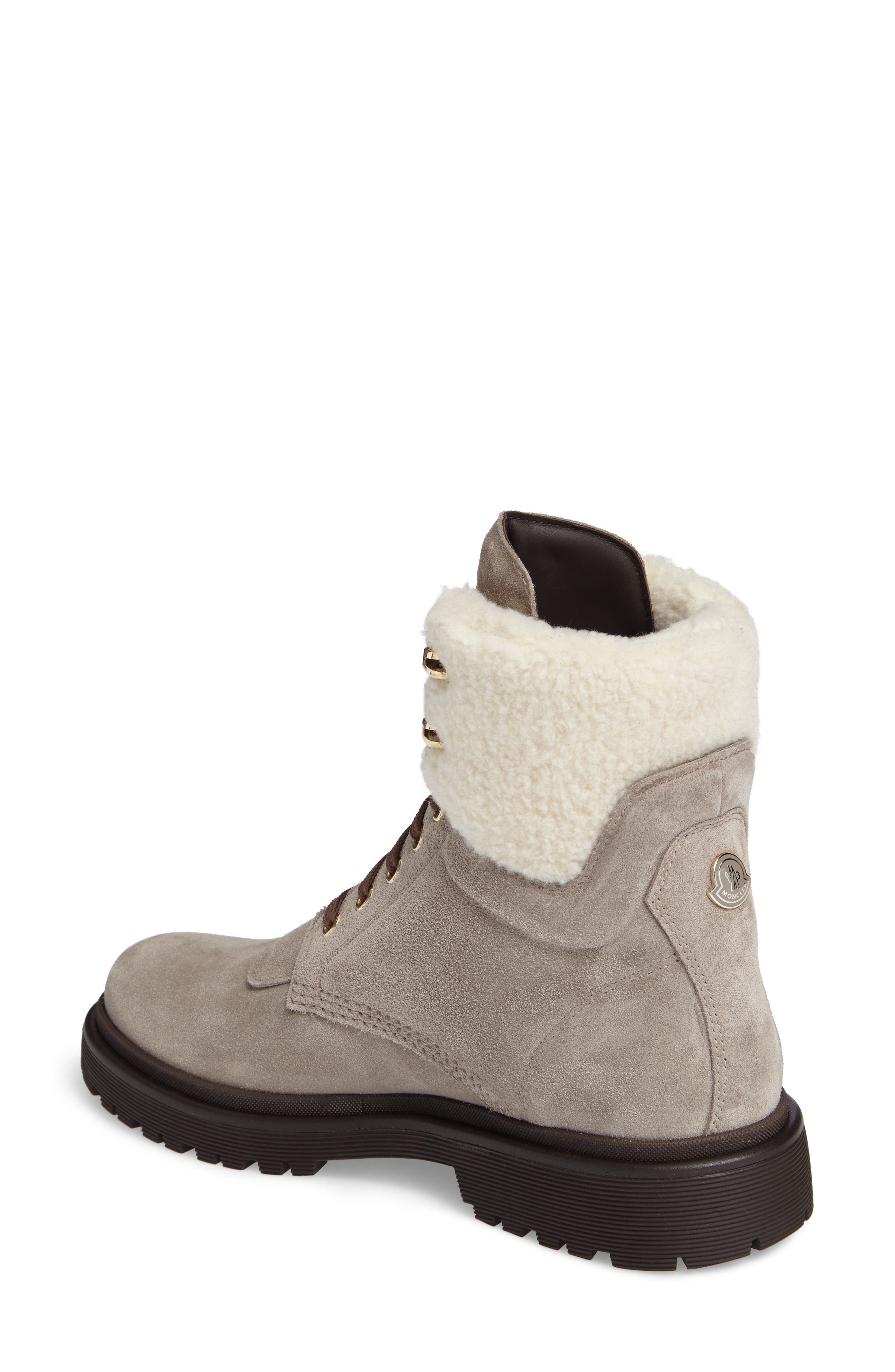 Patty Scarpa Faux Shearling Cuff Boot,                             Alternate thumbnail 2, color,                             Beige