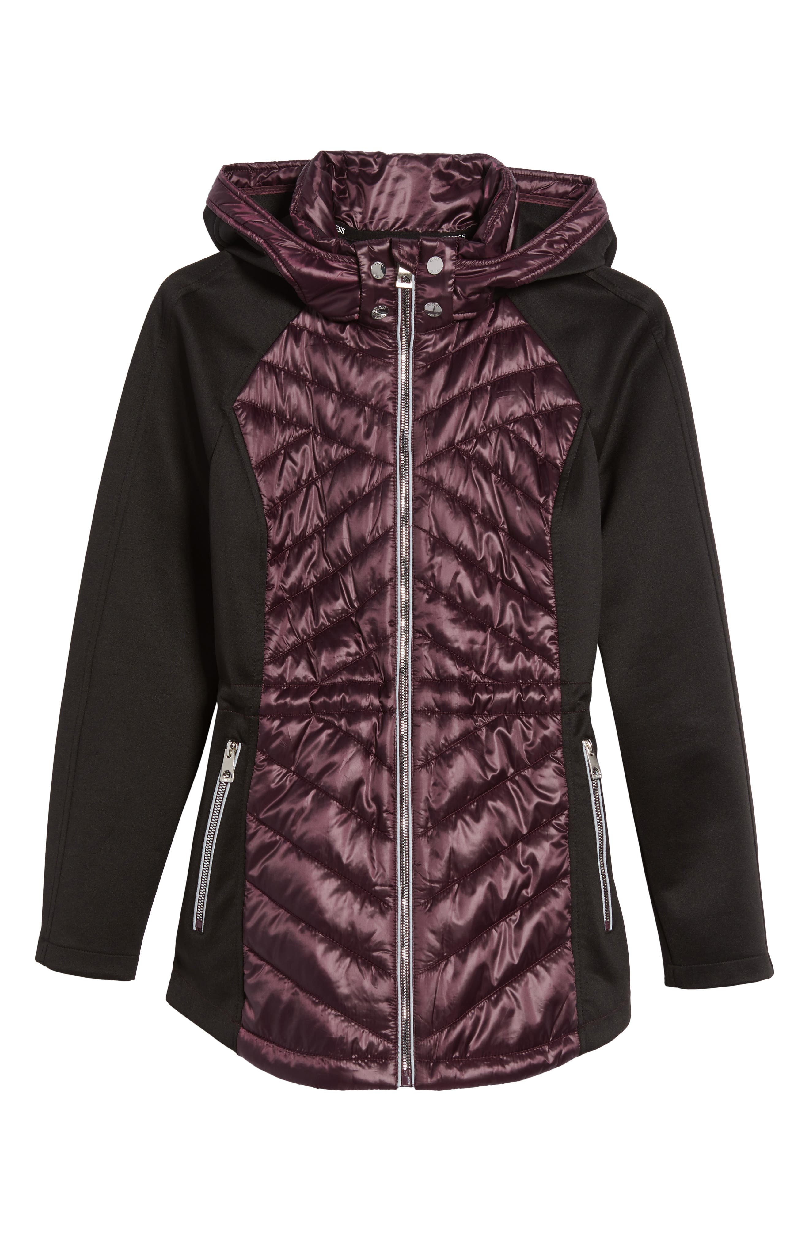 Insulated Anorak Jacket,                             Alternate thumbnail 6, color,                             Wine