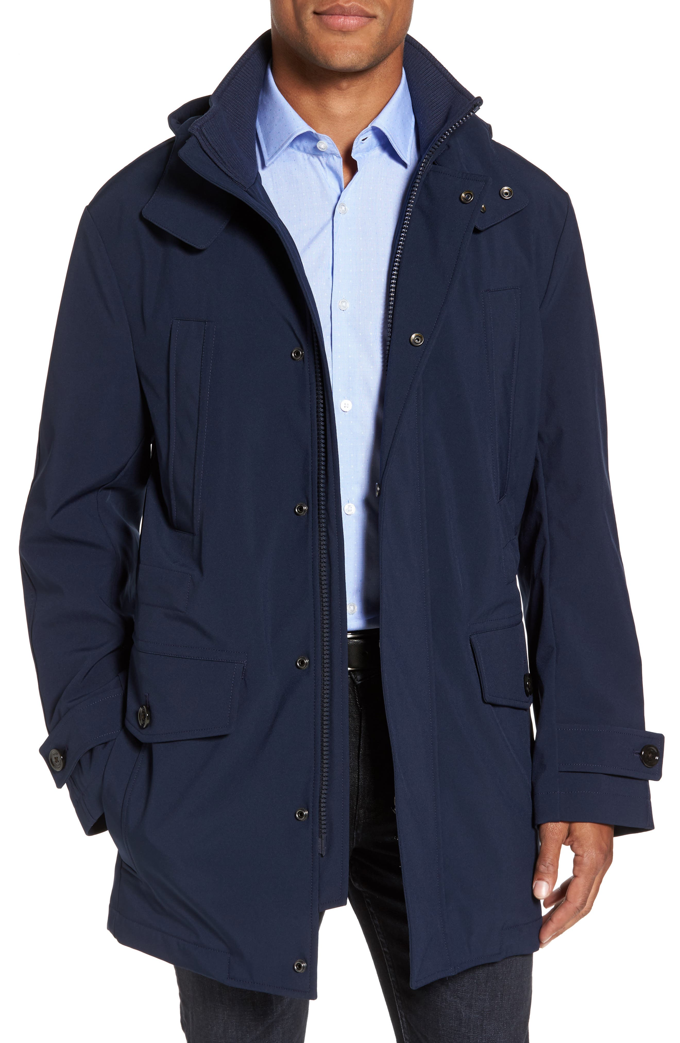 Technical Longline Jacket,                             Main thumbnail 1, color,                             Navy
