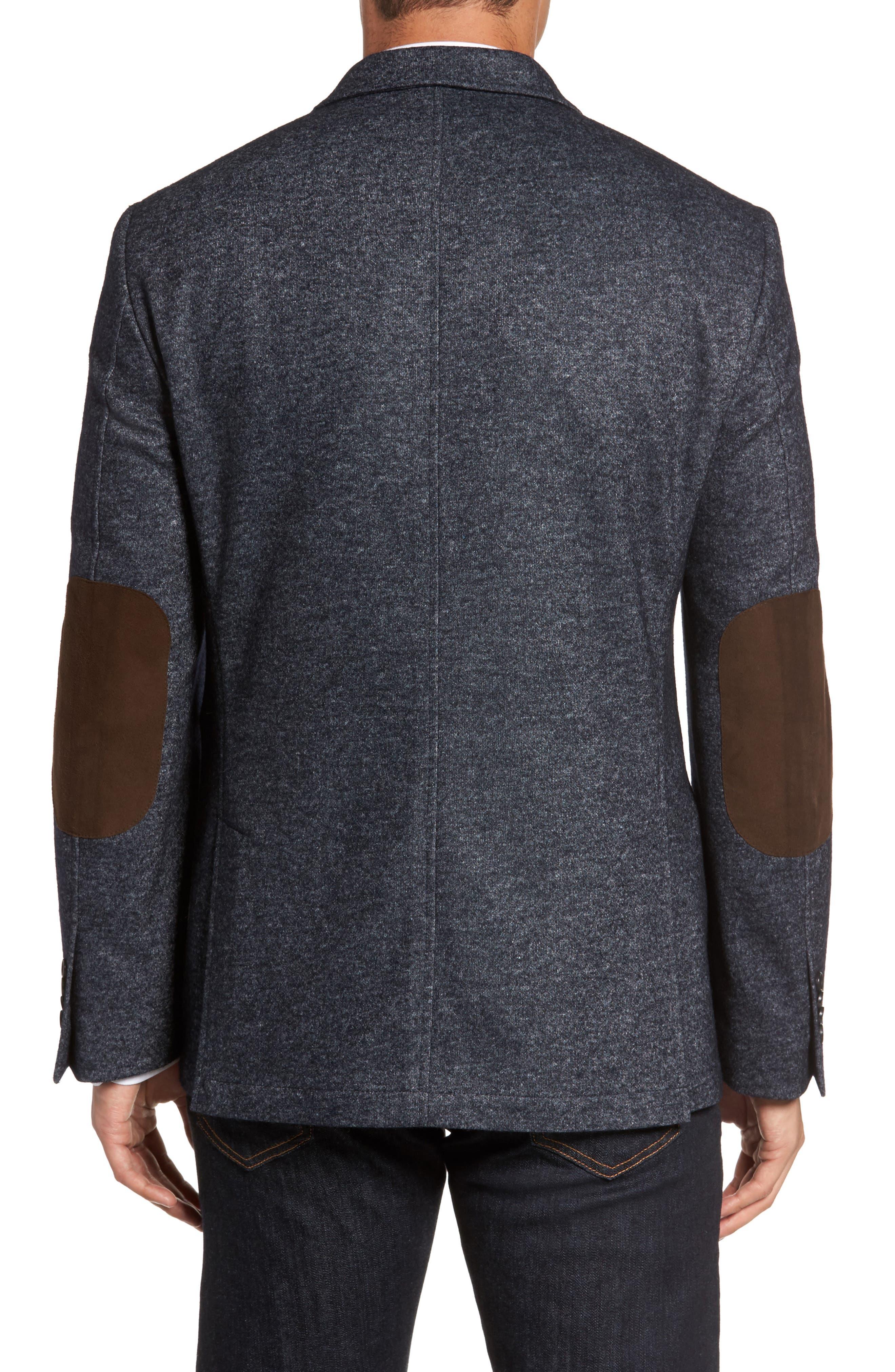 Alternate Image 2  - FLYNT Classic Fit Suede Trim Jersey Sport Coat