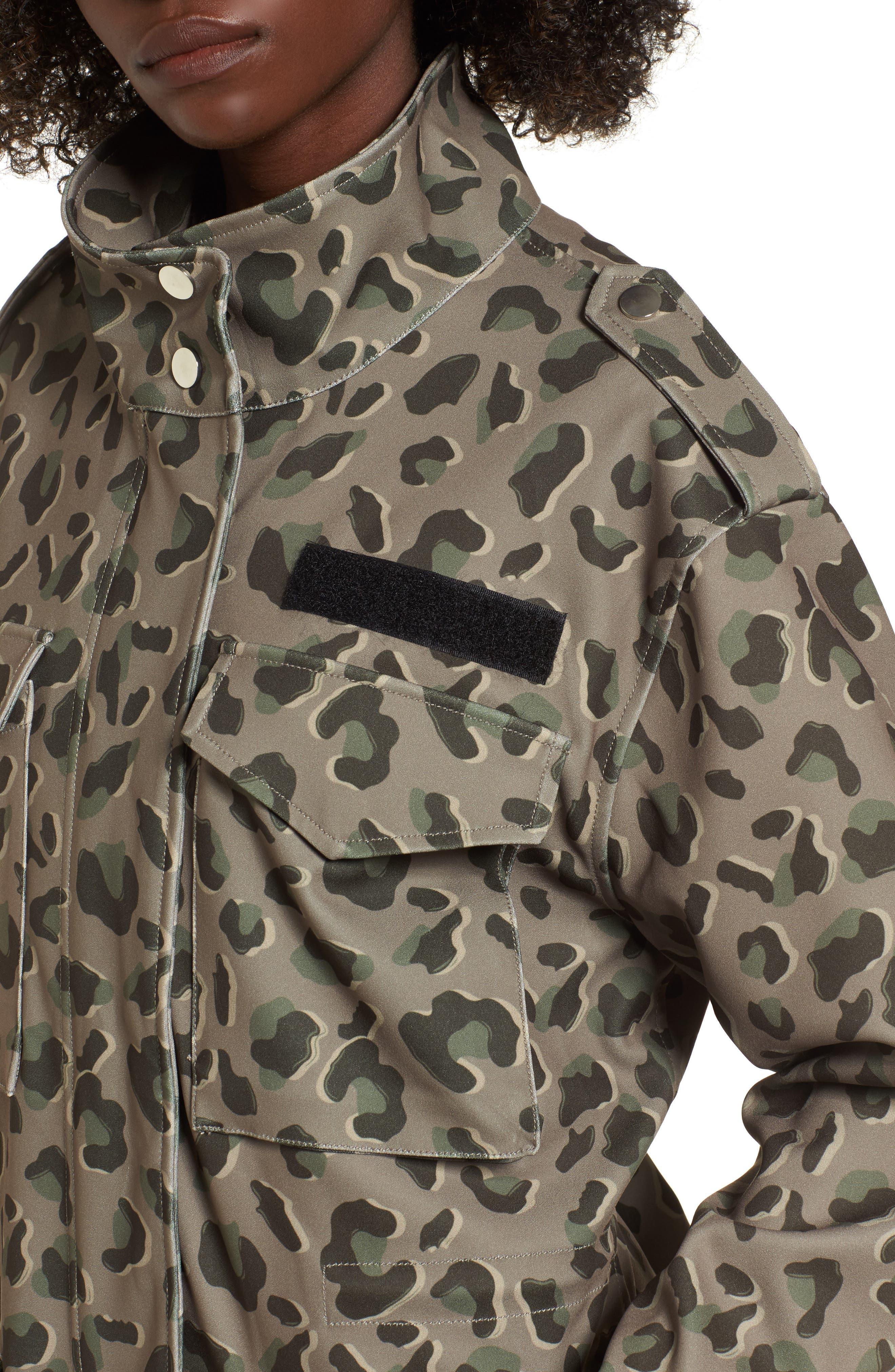 Osy Camo Print Jacket,                             Alternate thumbnail 4, color,                             Camo Print