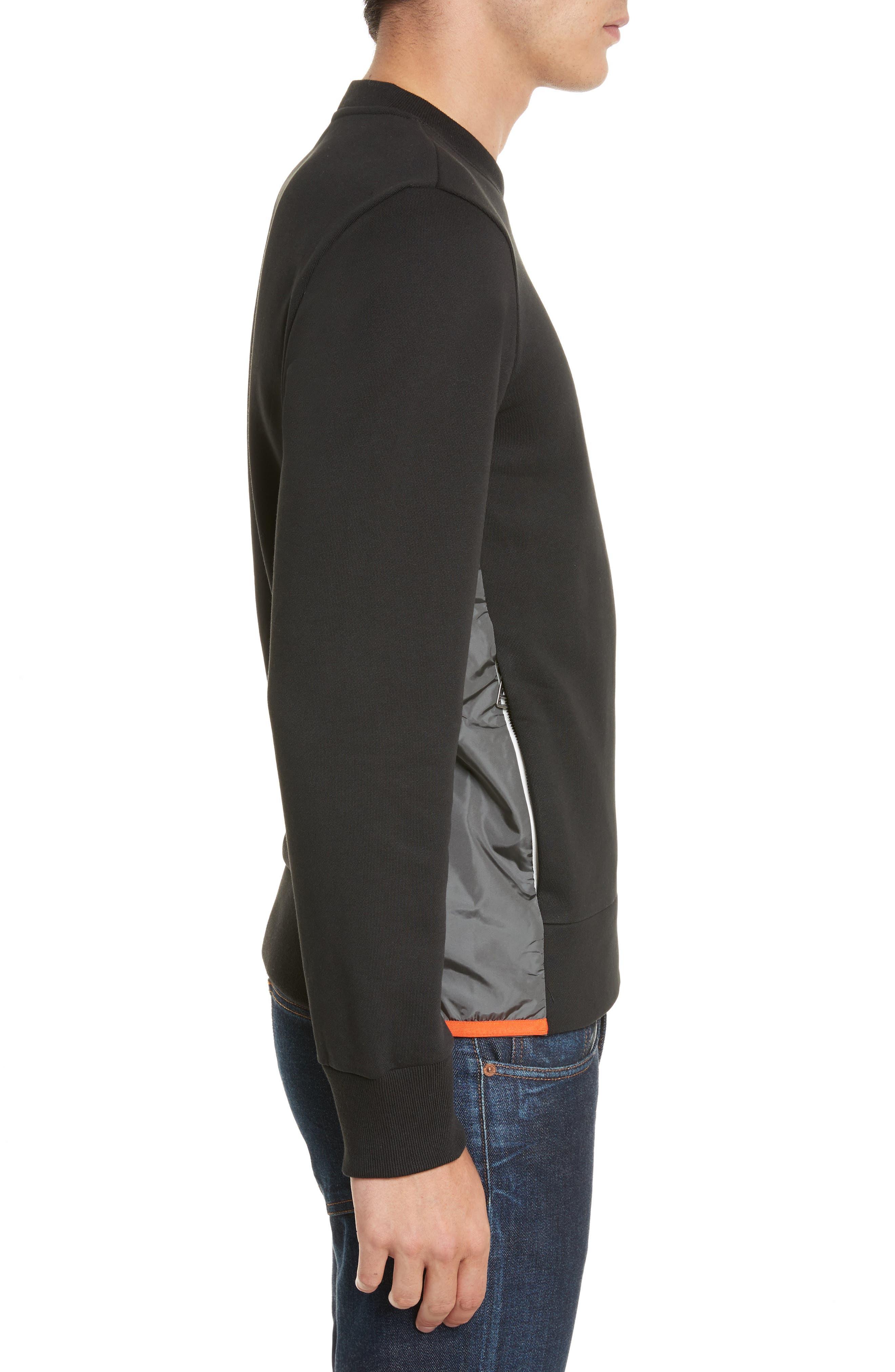 Maglia Crewneck Sweatshirt,                             Alternate thumbnail 3, color,                             Black