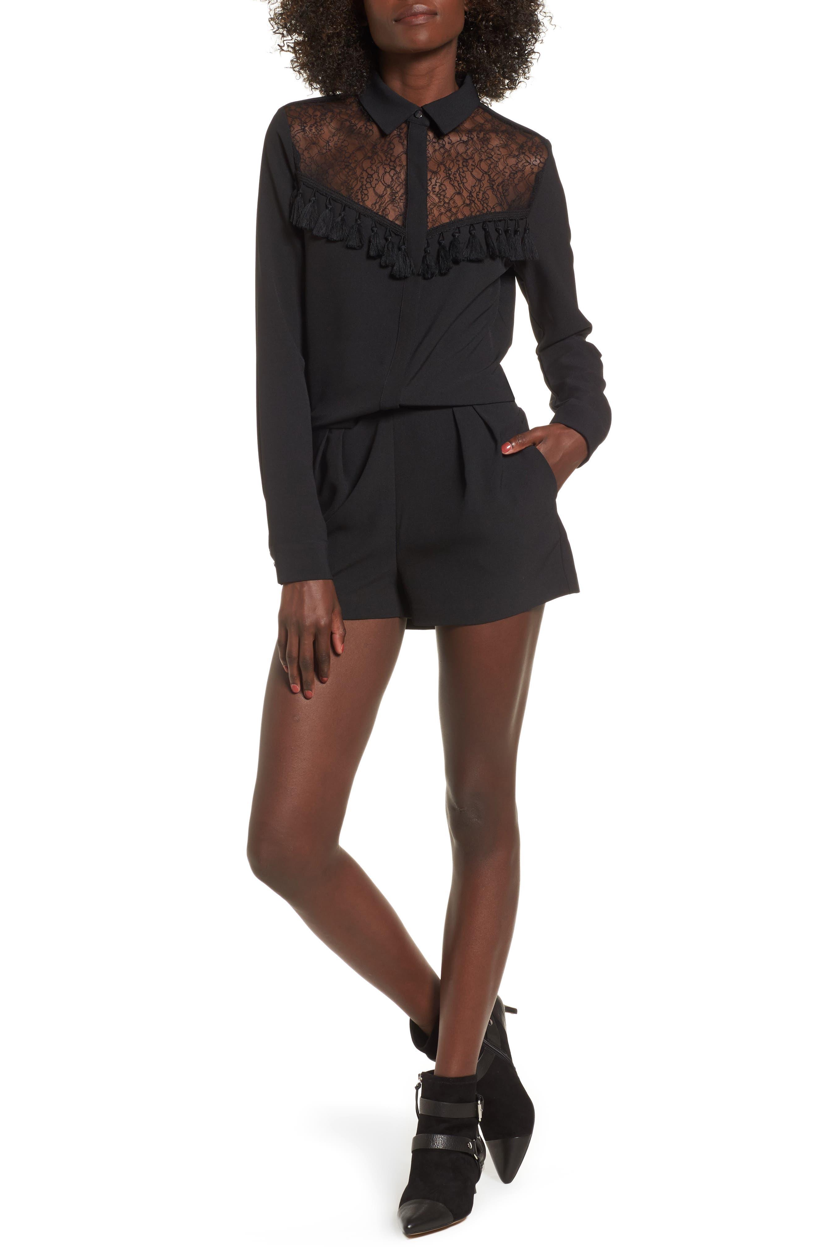 Westiny Romper,                         Main,                         color, Black