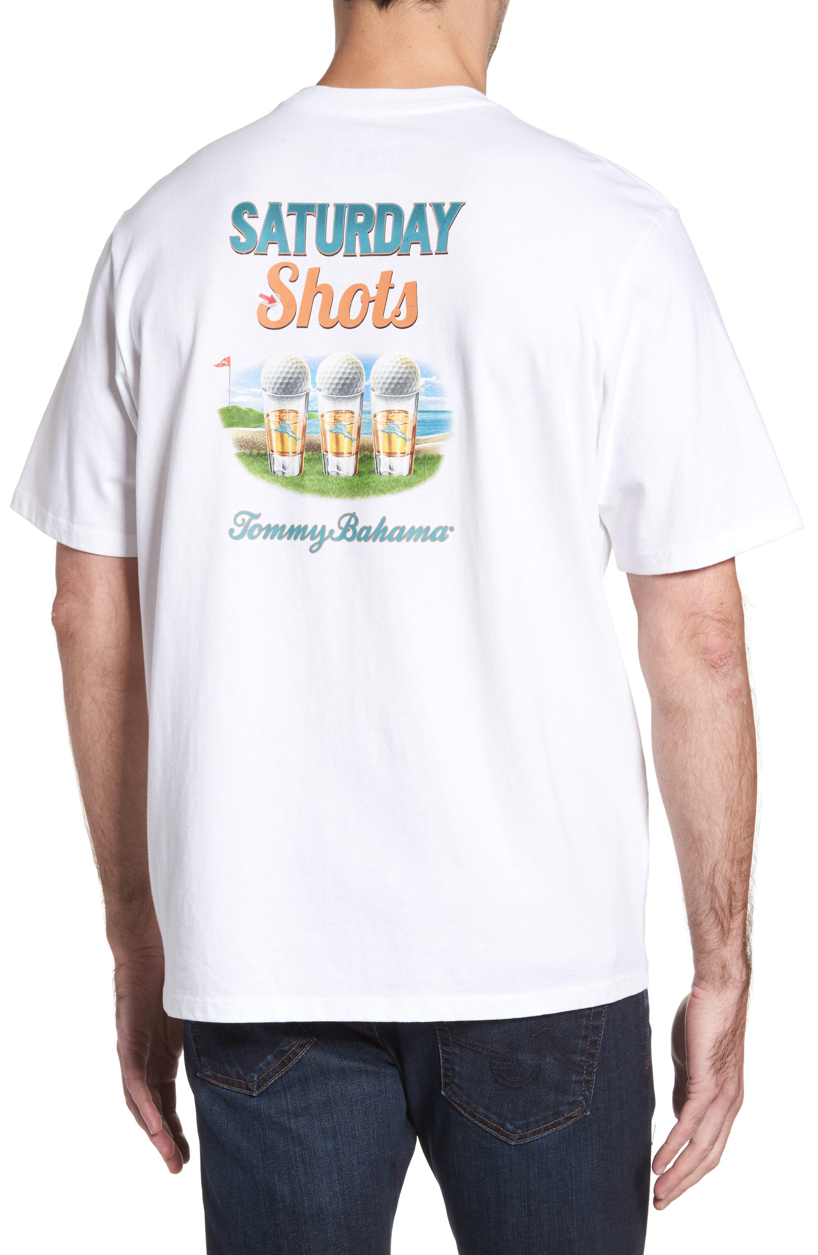 Saturday Shots Standard Fit T-Shirt,                         Main,                         color, White