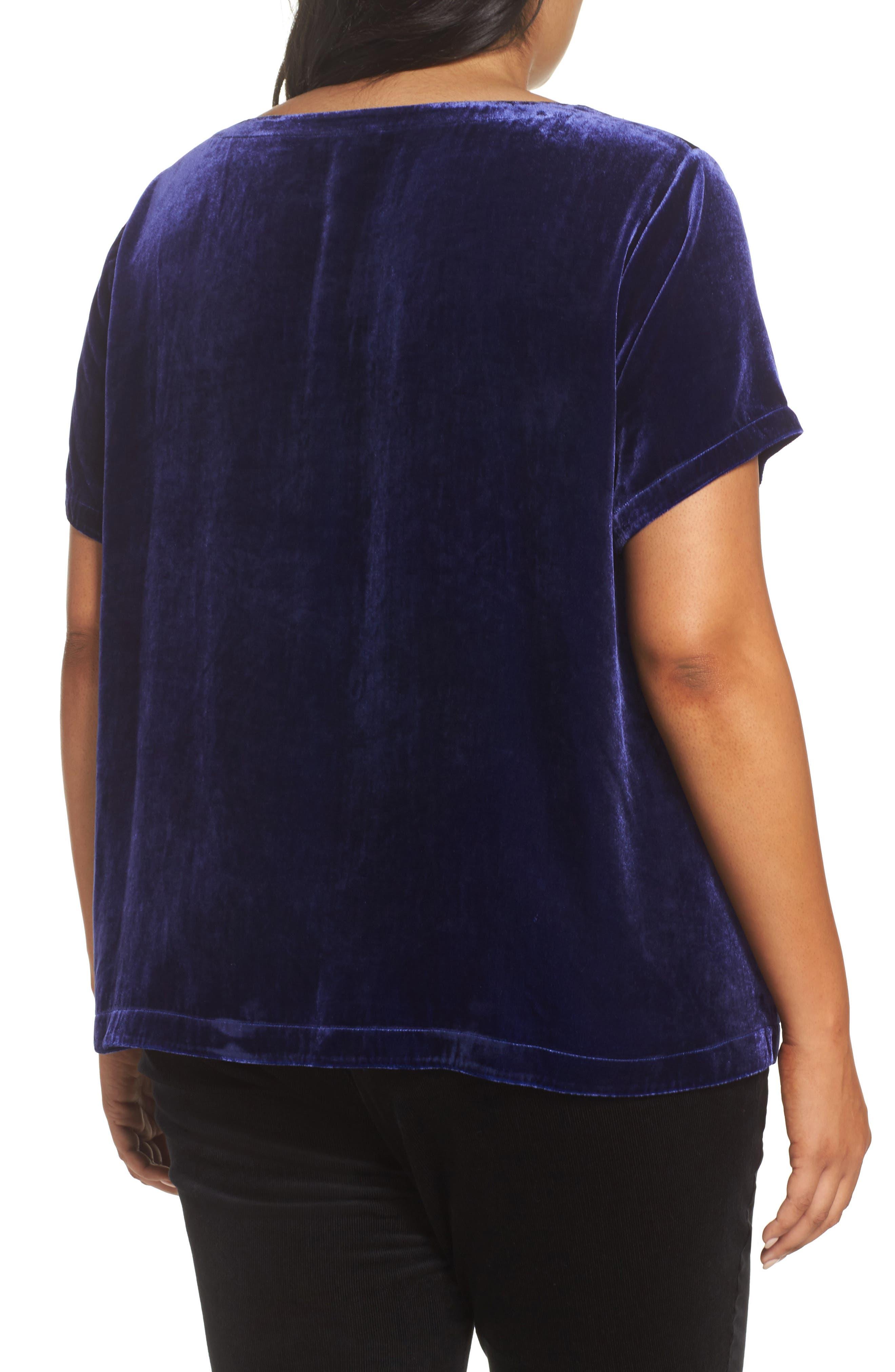 Alternate Image 2  - Eileen Fisher Velvet Top (Plus Size)