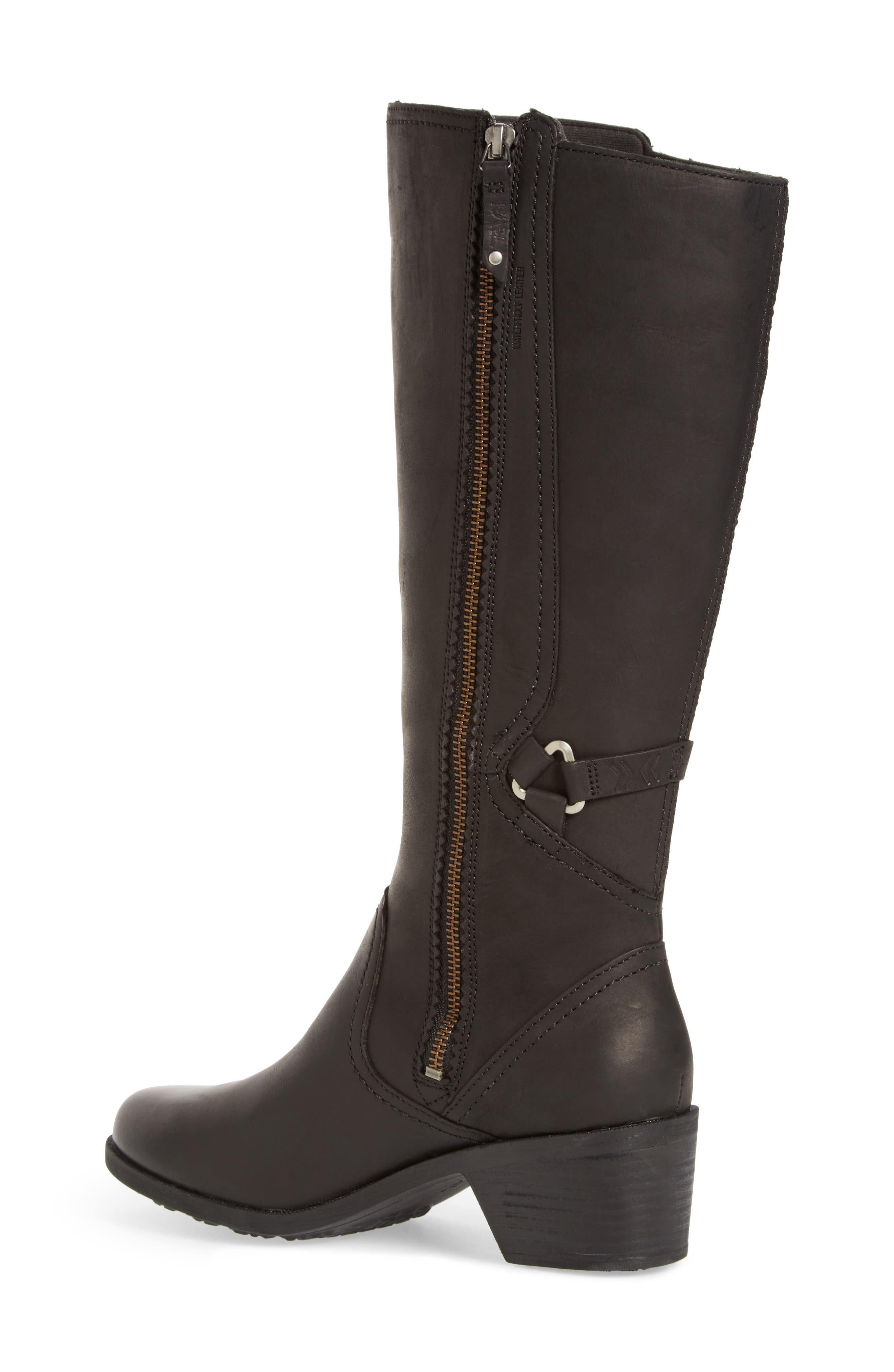 Foxy Waterproof Boot,                             Alternate thumbnail 2, color,                             Black Leather