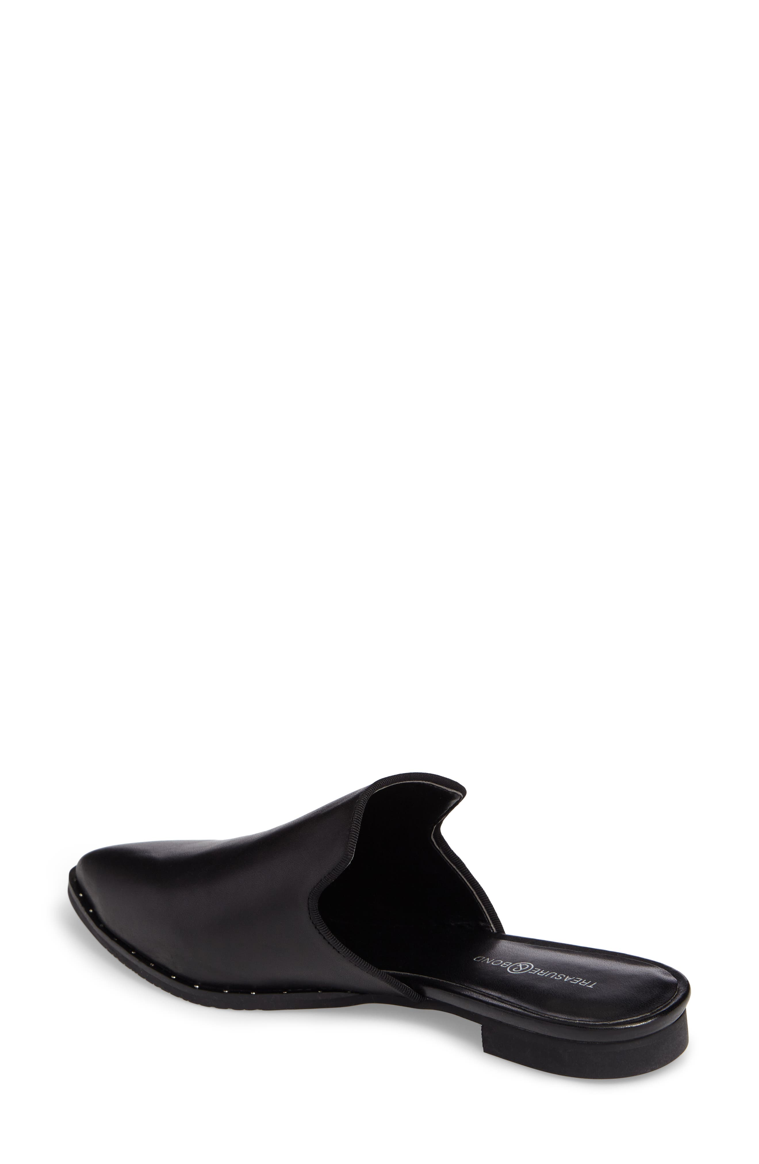 Keaton Loafer Mule,                             Alternate thumbnail 2, color,                             Black Leather