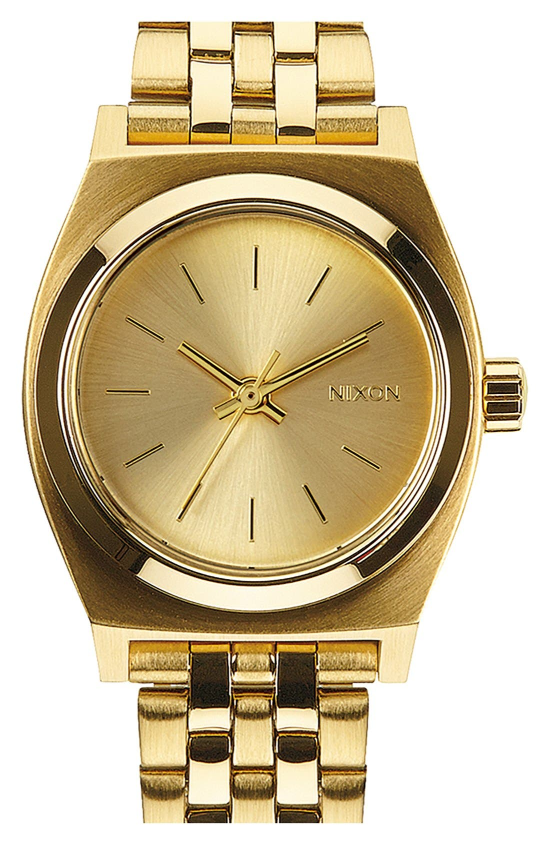 'The Small Time Teller' Bracelet Watch, 26mm,                             Main thumbnail 1, color,                             All Gold