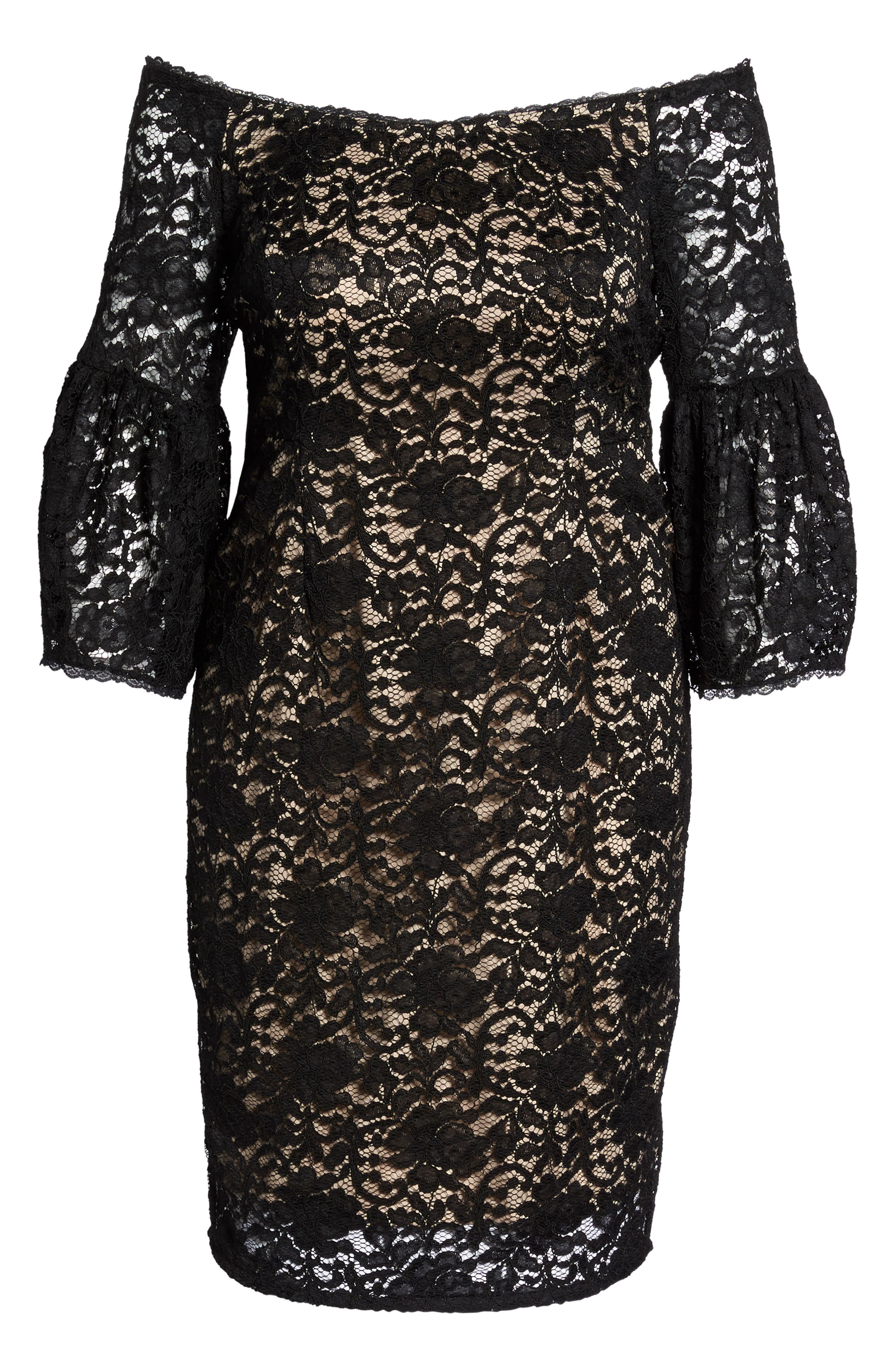 Alternate Image 7  - Adrianna Papell Juliet Off the Shoulder Lace Dress (Plus Size)