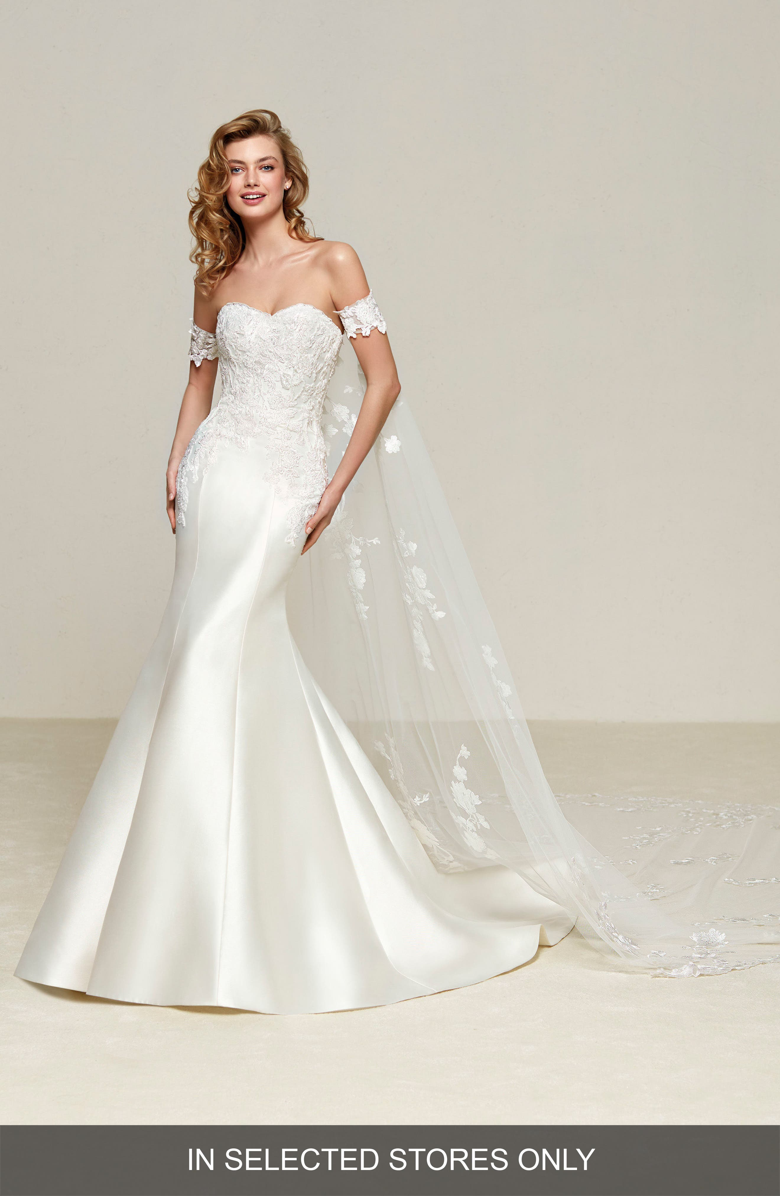 Drileas Strapless Mermaid Gown,                             Main thumbnail 1, color,                             Off White
