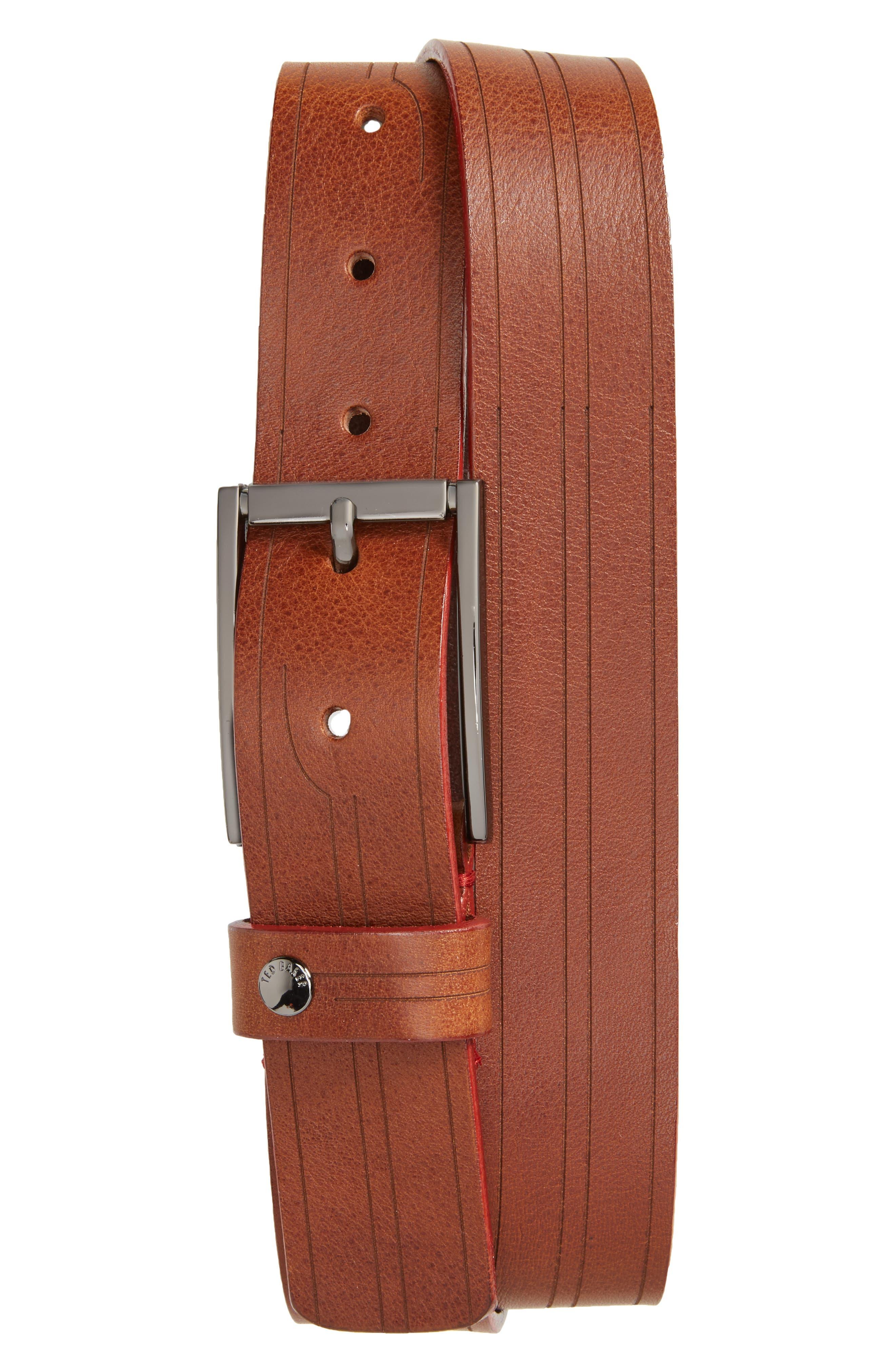 Magno Leather Belt,                         Main,                         color, Tan