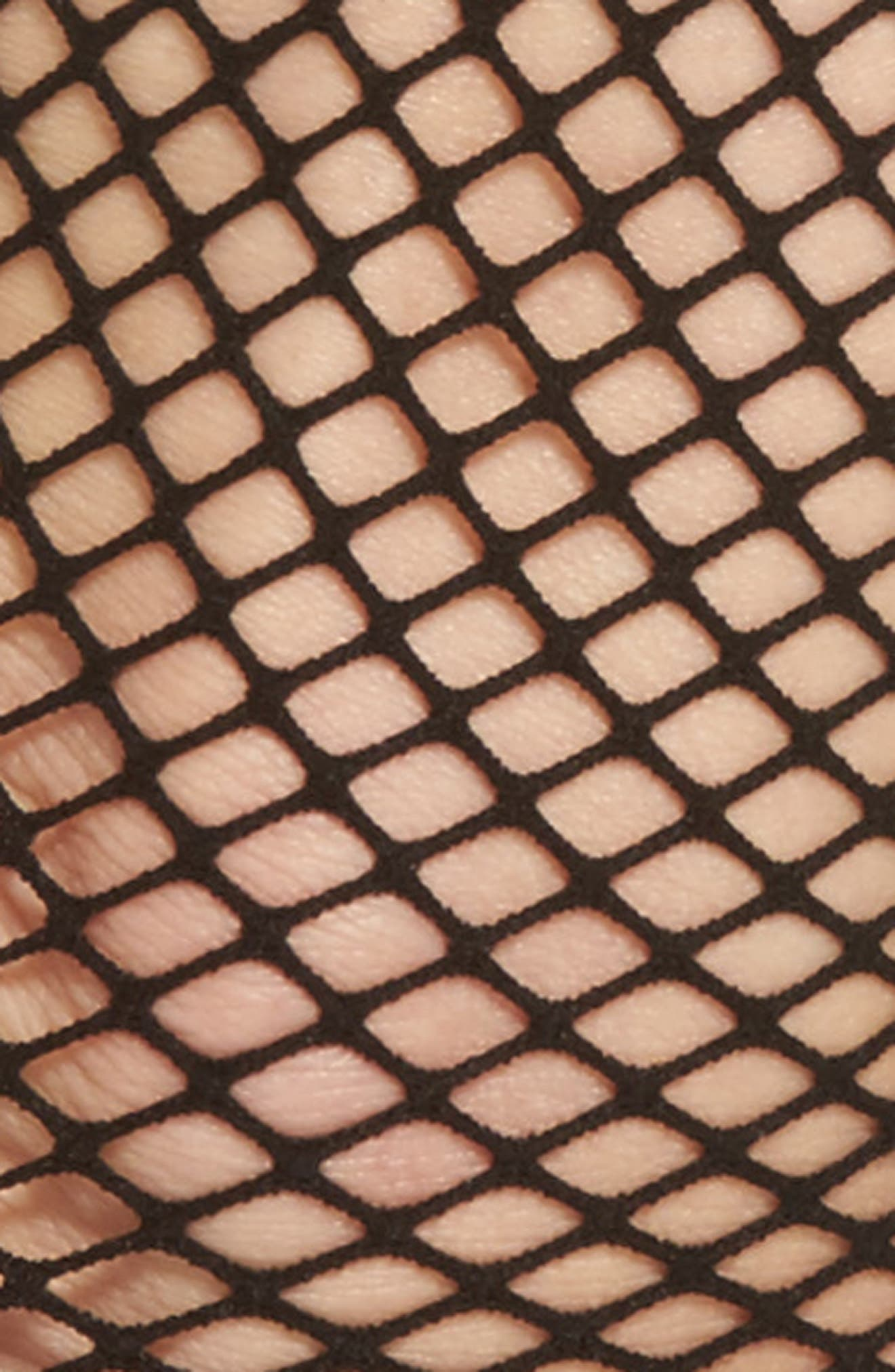 Alternate Image 2  - Capelli of New York Fishnet Ankle Socks