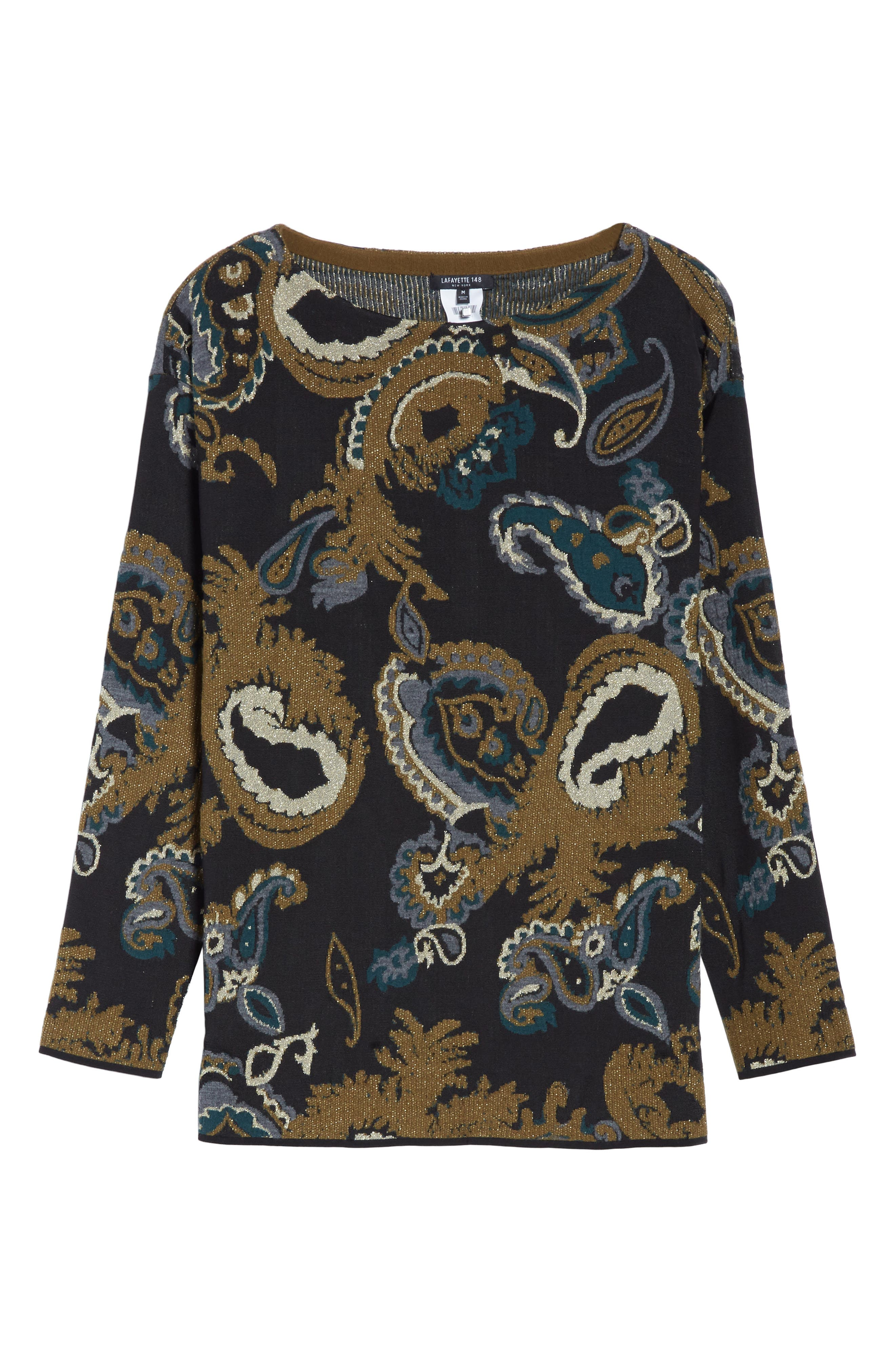 Alternate Image 6  - Lafayette 148 New York Paisley Jacquard Sweater