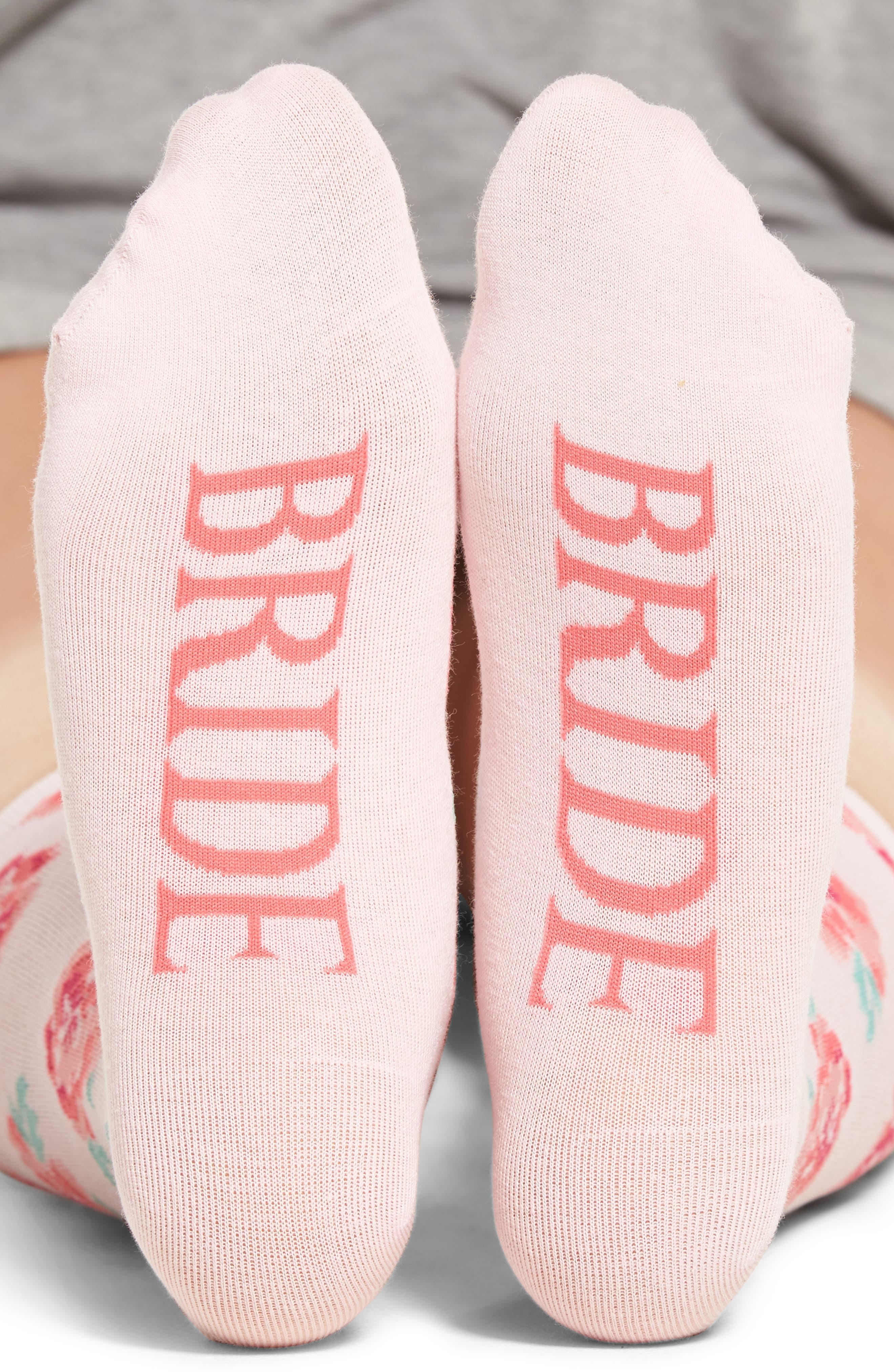 Bride Crew Socks,                             Main thumbnail 1, color,                             Light Pink