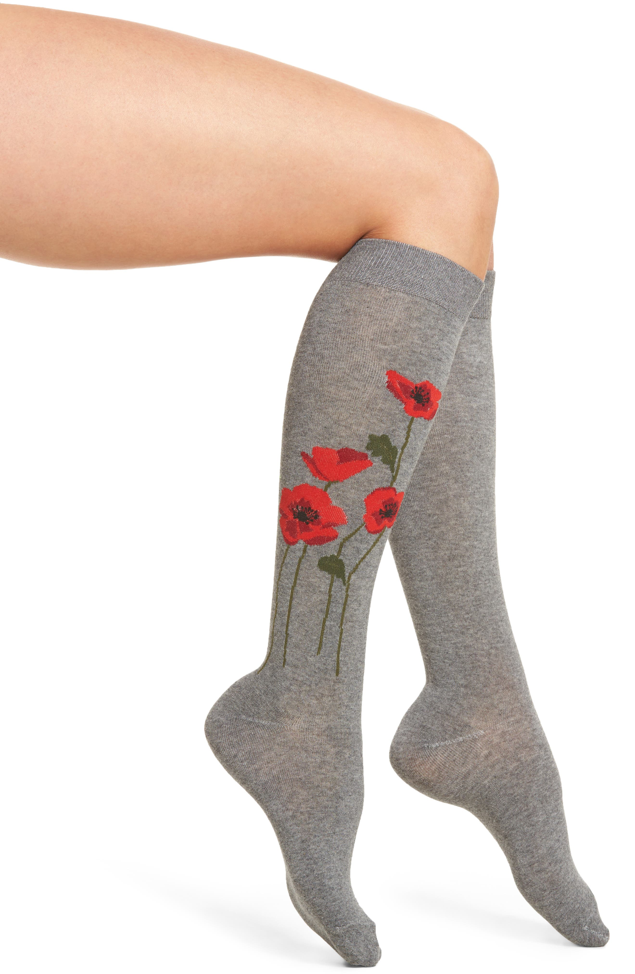 kate spade new york falling poppy knee high socks (2 for $20)