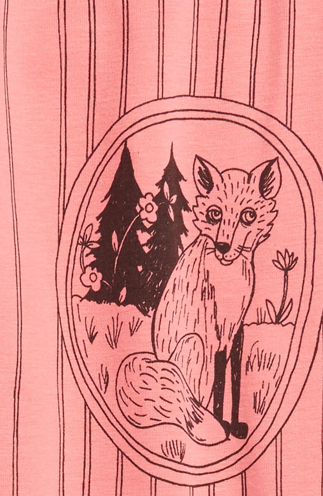 Fox Family Leggings,                             Alternate thumbnail 2, color,                             Pink